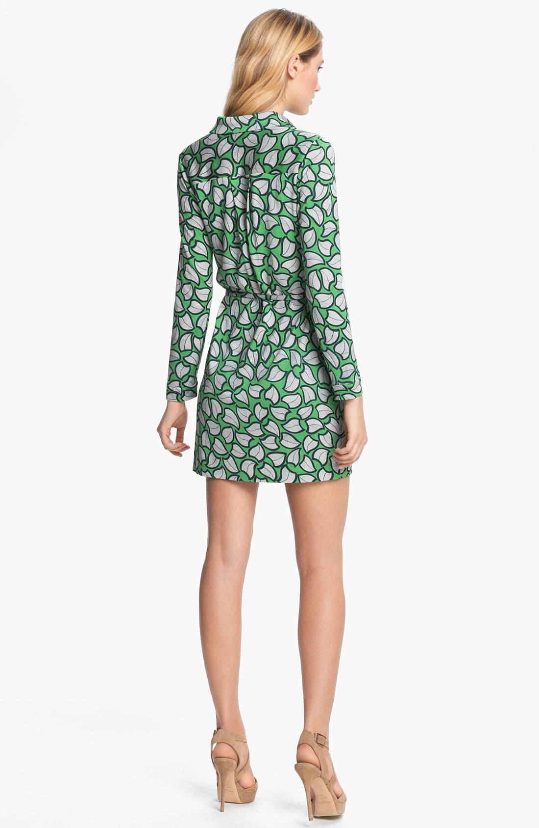 'Leanna' Silk Shirtdress,                             Alternate thumbnail 2, color,                             357
