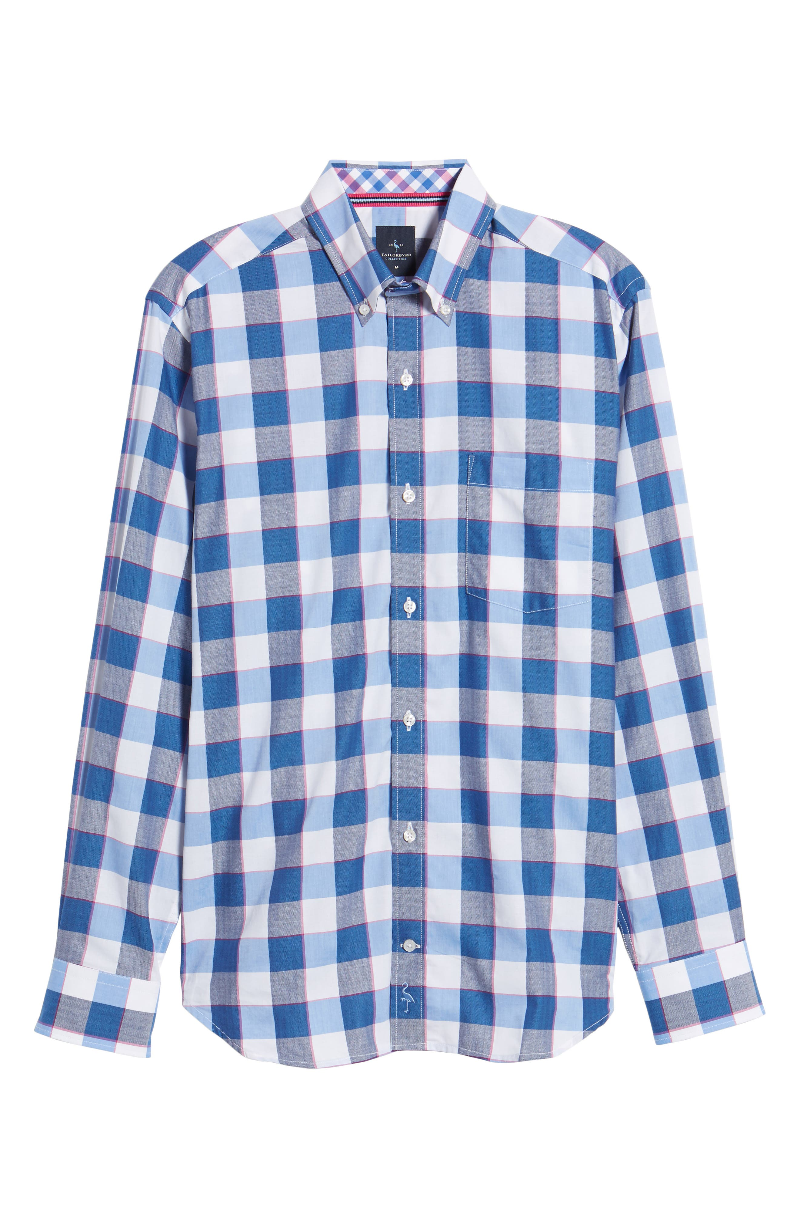 Jeremy Regular Fit Check Sport Shirt,                             Alternate thumbnail 6, color,