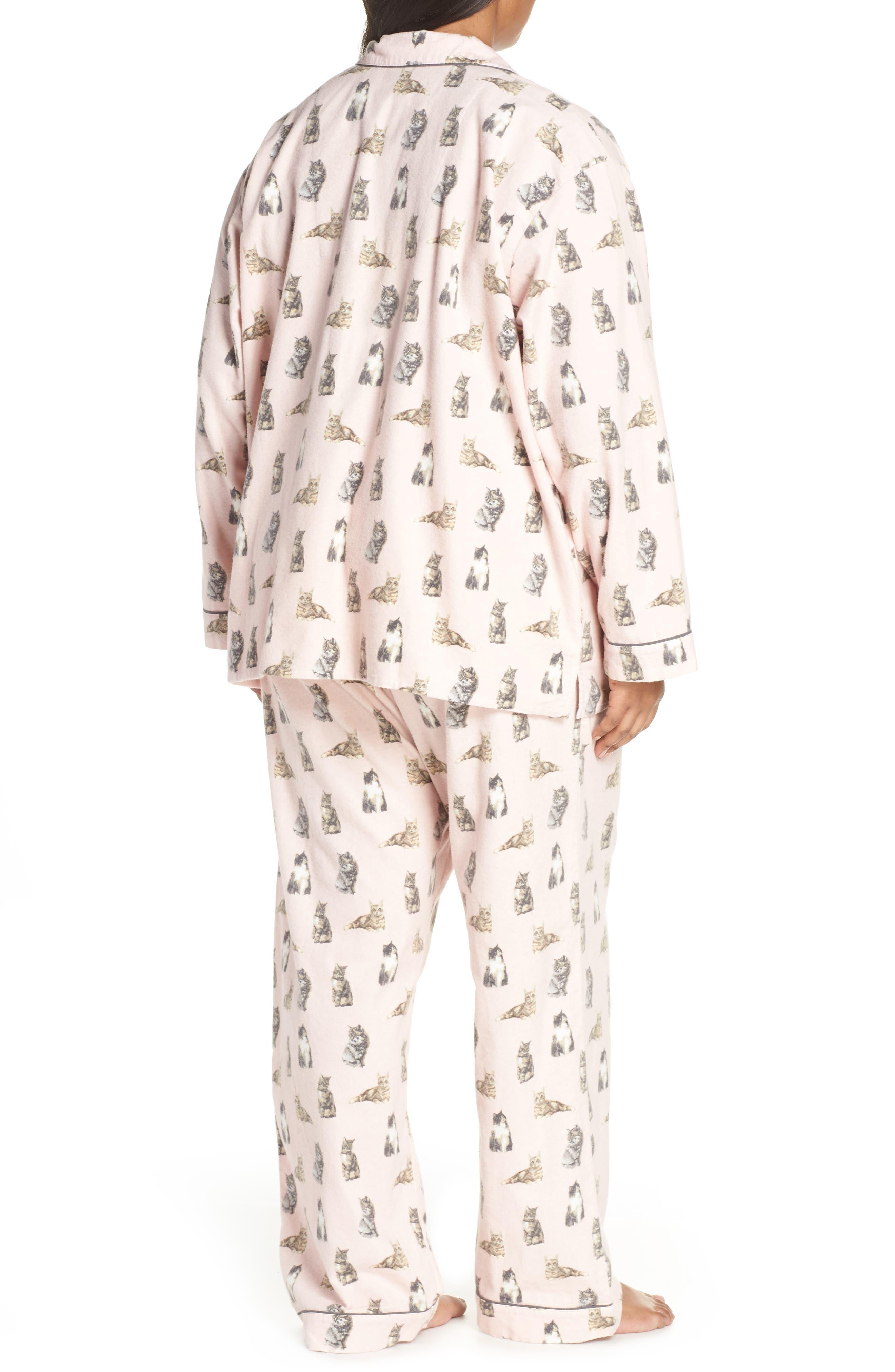 PJ SALVAGE,                             Print Flannel Pajamas,                             Alternate thumbnail 2, color,                             650