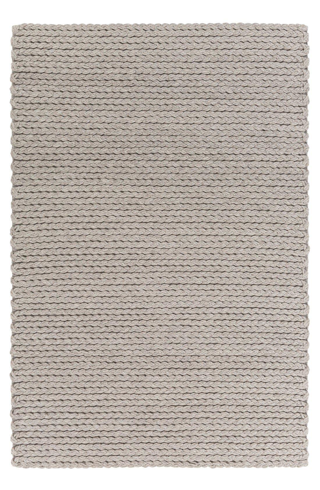 'Yukon' Hand Woven Wool Rug,                         Main,                         color, LIGHT GREY