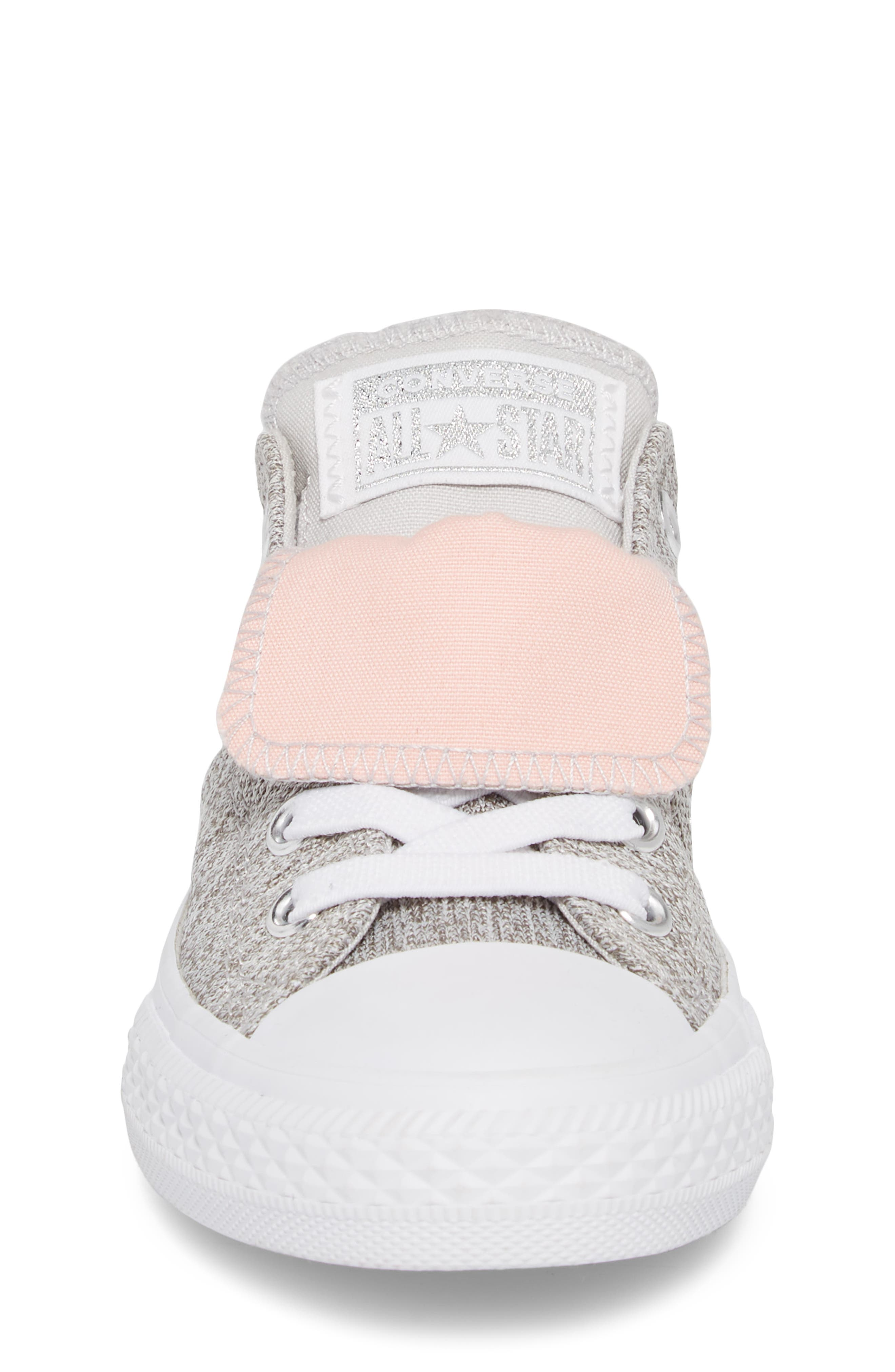 Chuck Taylor<sup>®</sup> All Star<sup>®</sup> Maddie Double Tongue Sneaker,                             Alternate thumbnail 4, color,                             LIGHT GREY