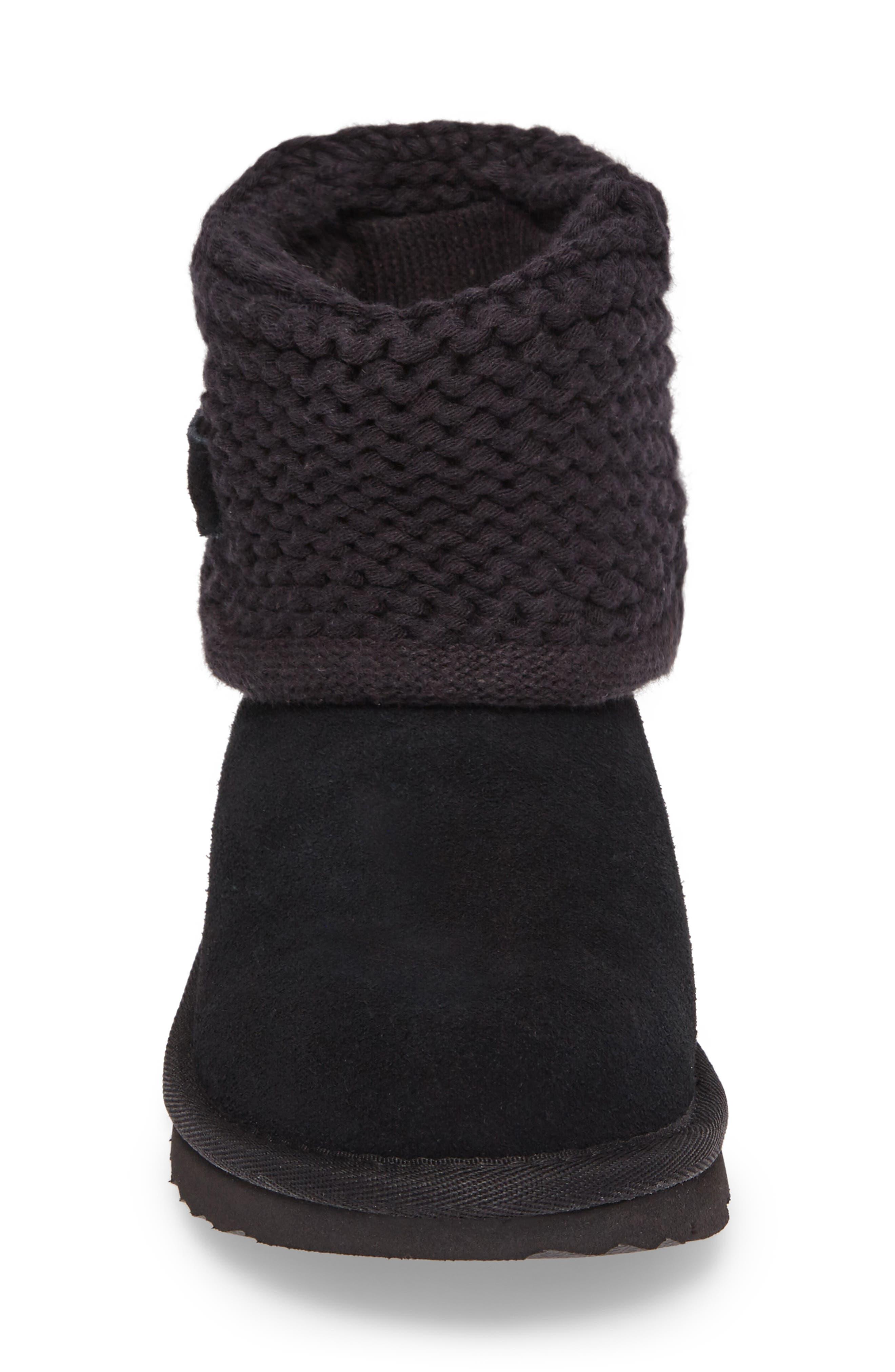 Darrah II Knit Cuff Boot,                             Alternate thumbnail 4, color,                             001