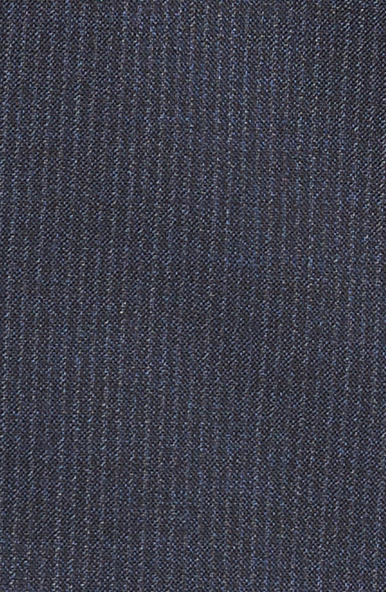 Jay Trim Fit Stripe Wool Suit,                             Alternate thumbnail 7, color,                             NAVY SLIM STRIPE