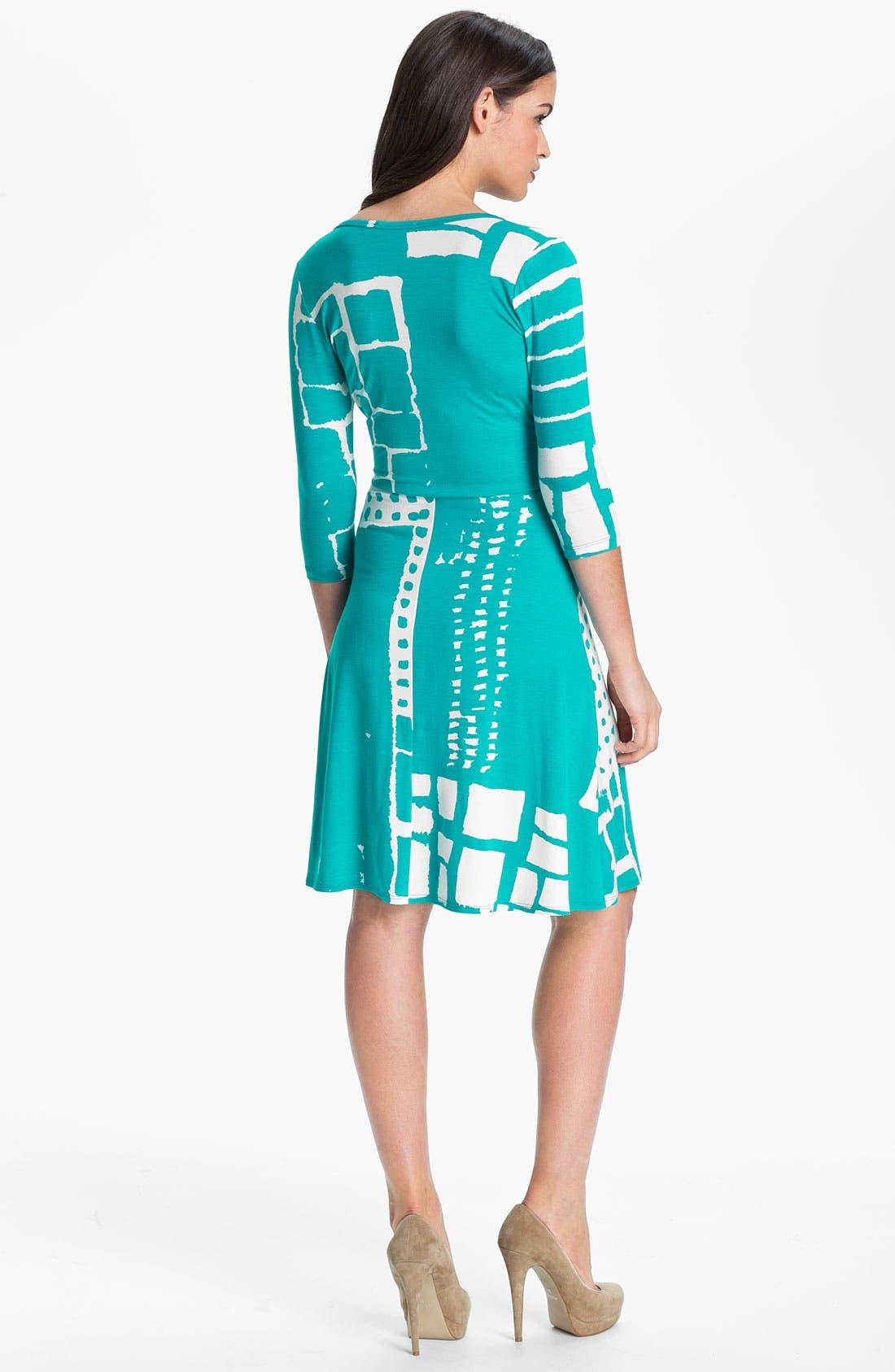 Faux Wrap Dress,                             Alternate thumbnail 3, color,                             400