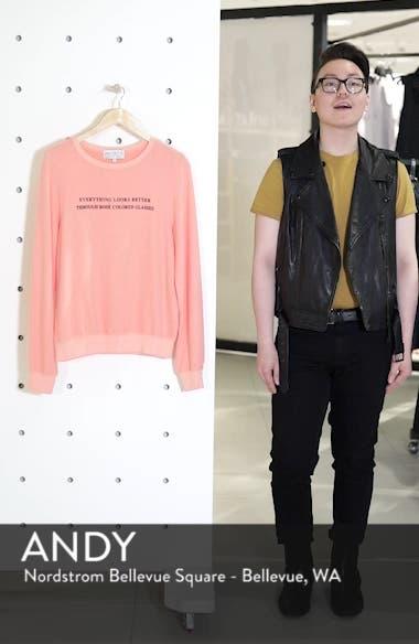 Rosé Glasses Beach Sweatshirt, sales video thumbnail