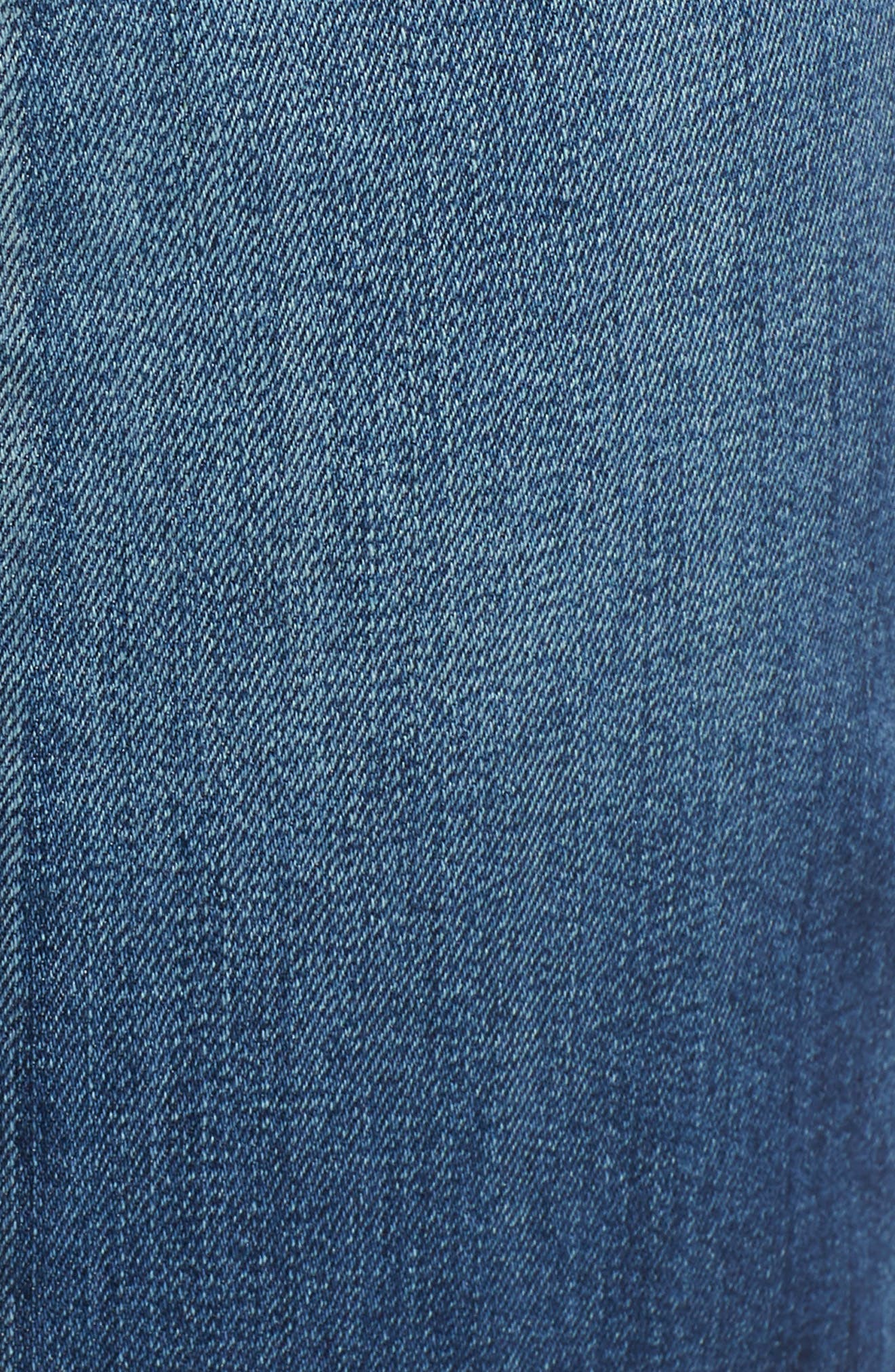 Split Back Crop Jeans,                             Alternate thumbnail 6, color,