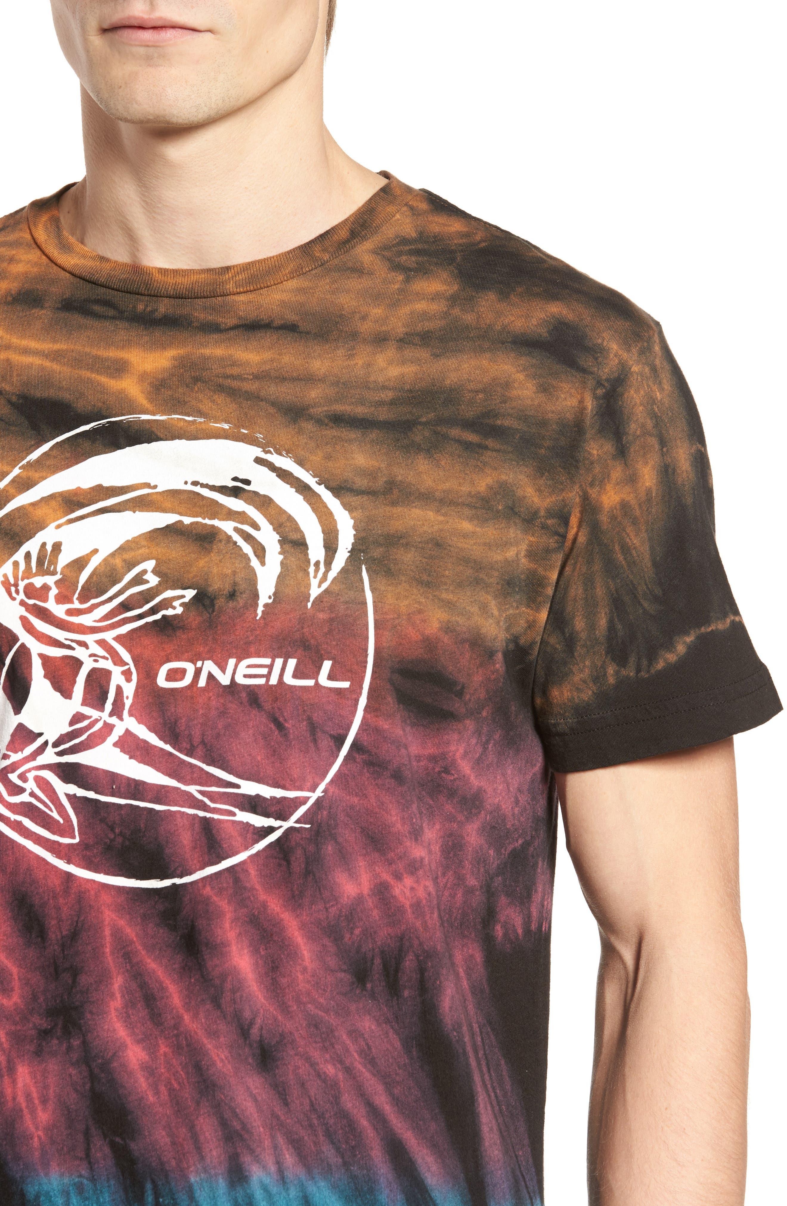 The Lawn Graphic Tie Dye T-Shirt,                             Alternate thumbnail 4, color,                             001