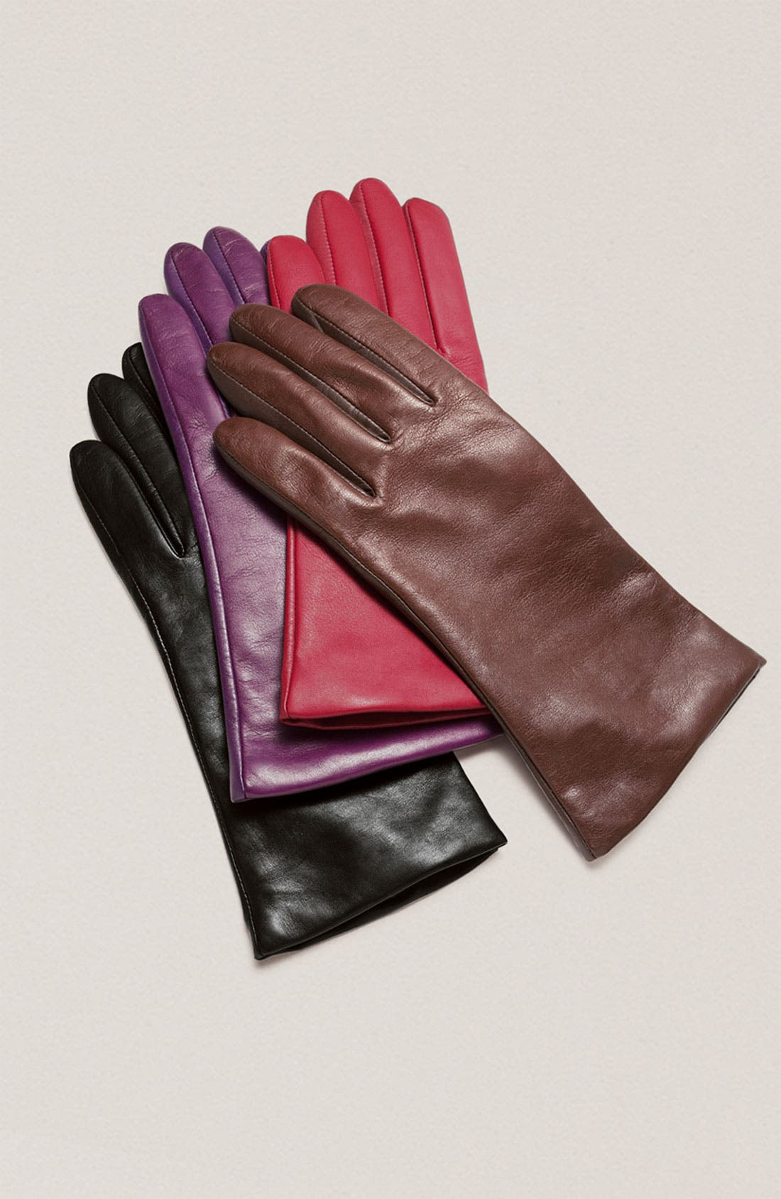 'Basic Tech' Cashmere Lined Leather Gloves,                             Alternate thumbnail 8, color,