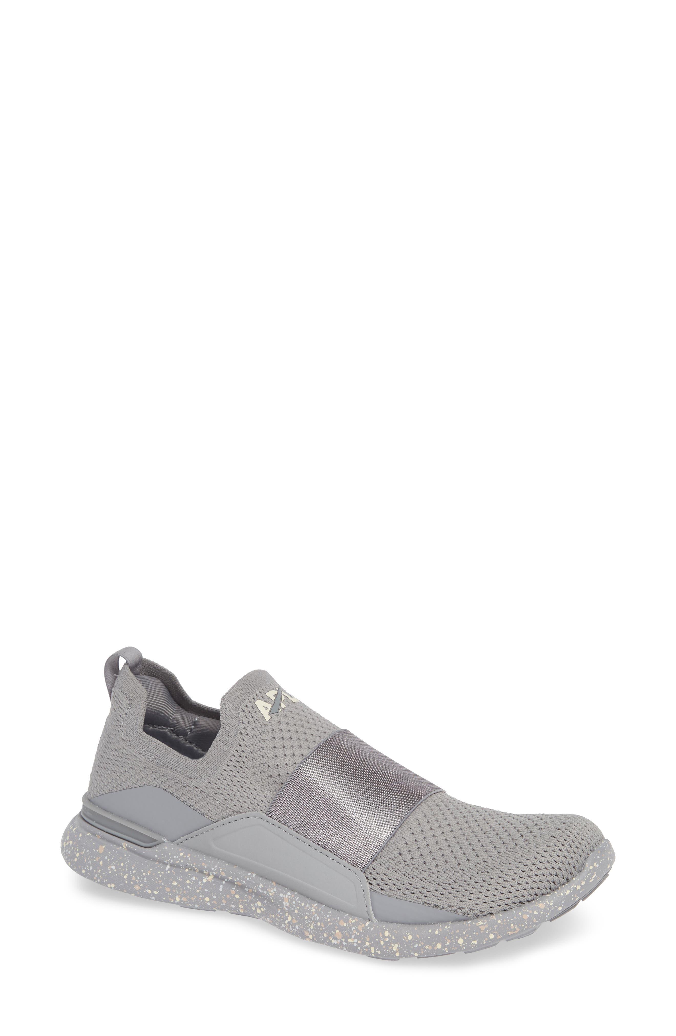 APL Techloom Bliss Knit Running Shoe, Main, color, CEMENT/ SEA SALT/ CREAM