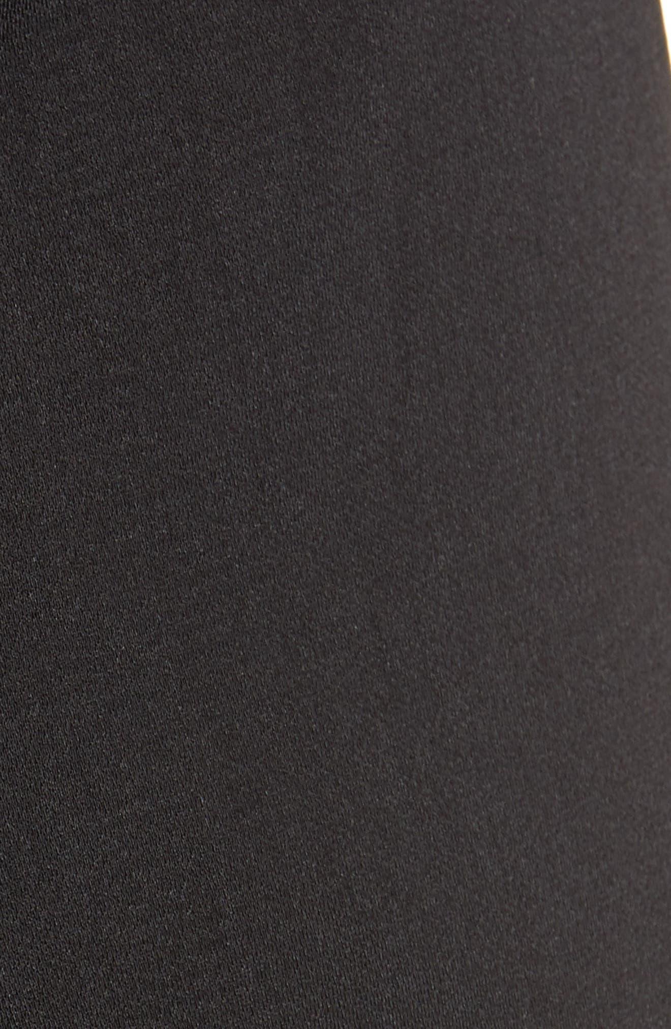 Tie Waist Wide Leg Pants,                             Alternate thumbnail 5, color,                             BLACK