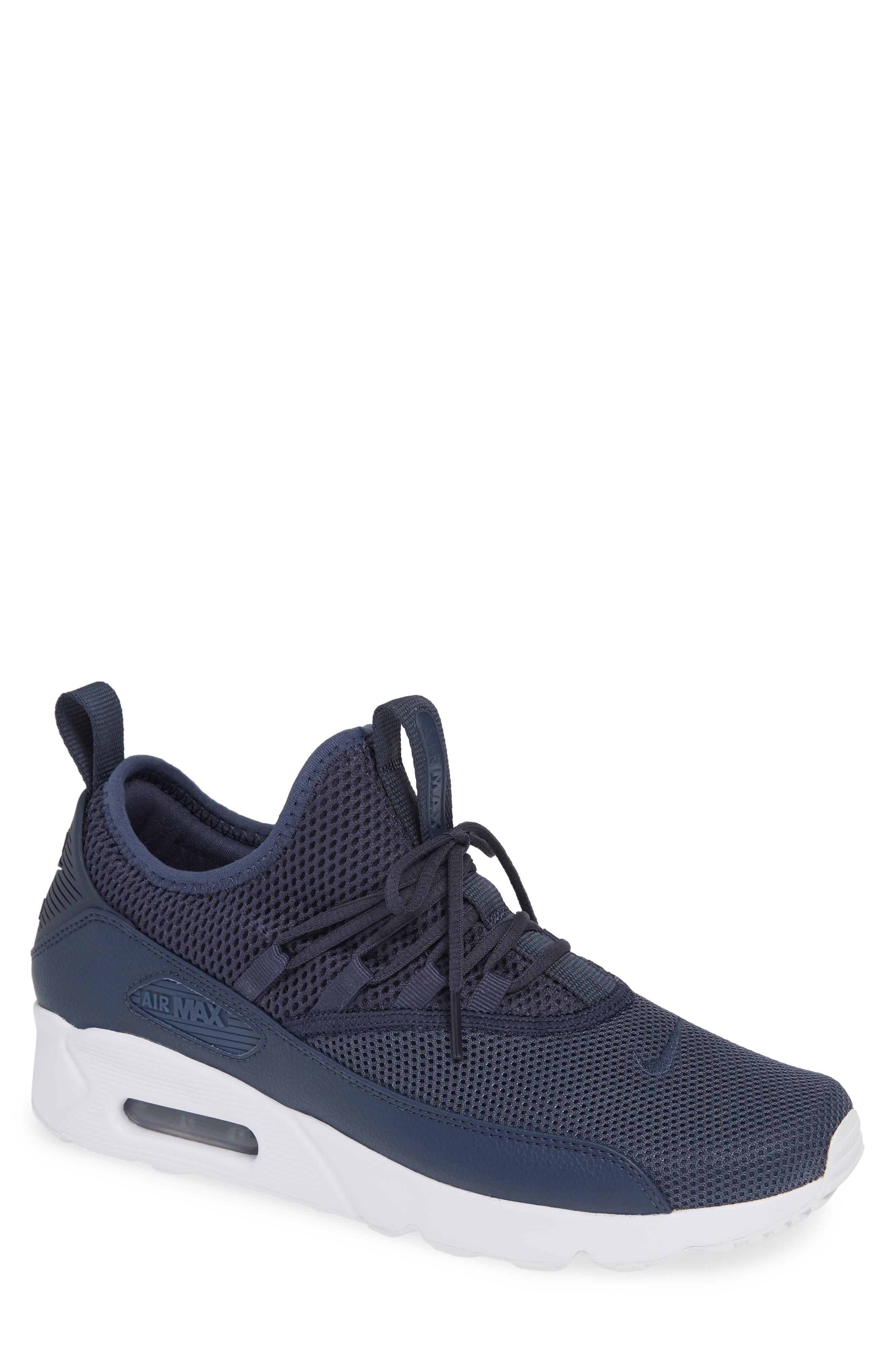 Air Max 90 EZ Sneaker,                             Main thumbnail 1, color,                             THUNDER BLUE/ WHITE