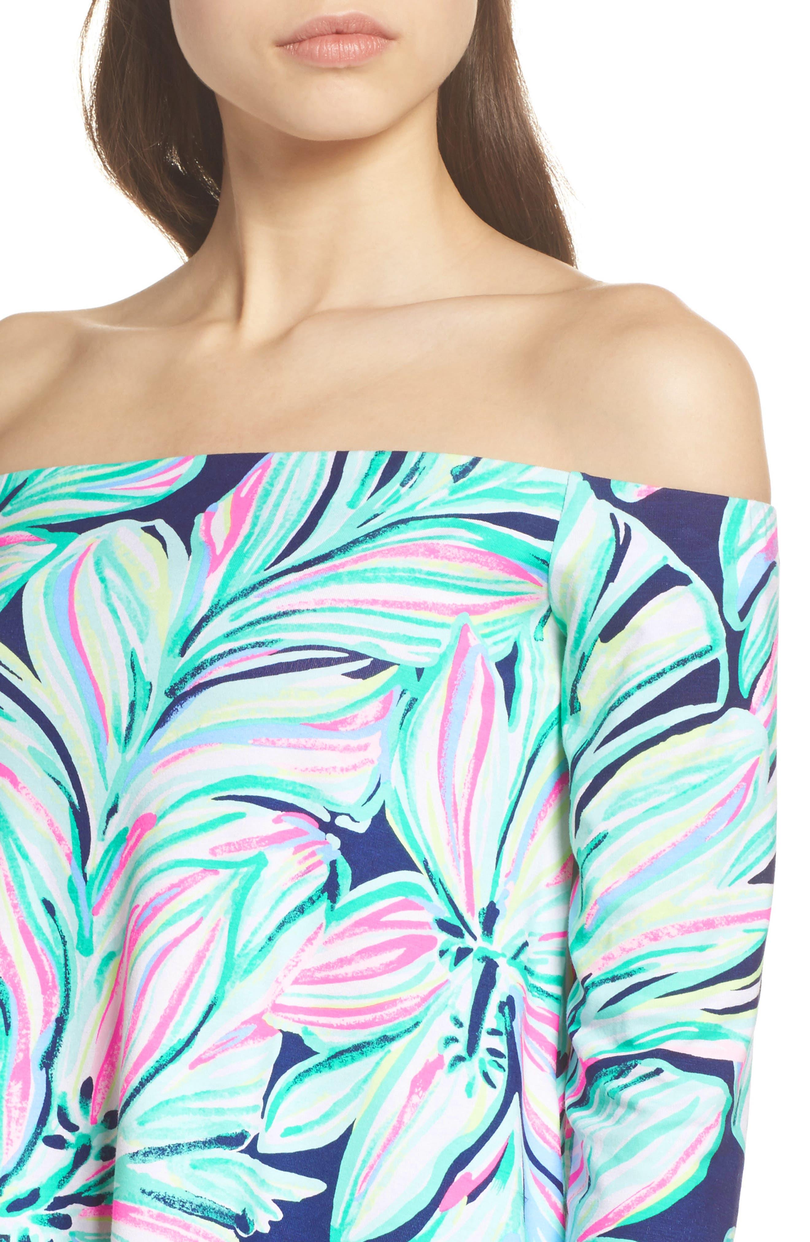 Weslee Floral Top & Pants,                             Alternate thumbnail 5, color,