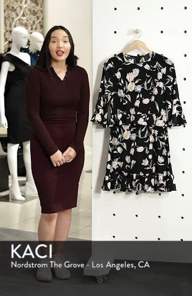 Floral Bell Sleeve Dress, sales video thumbnail