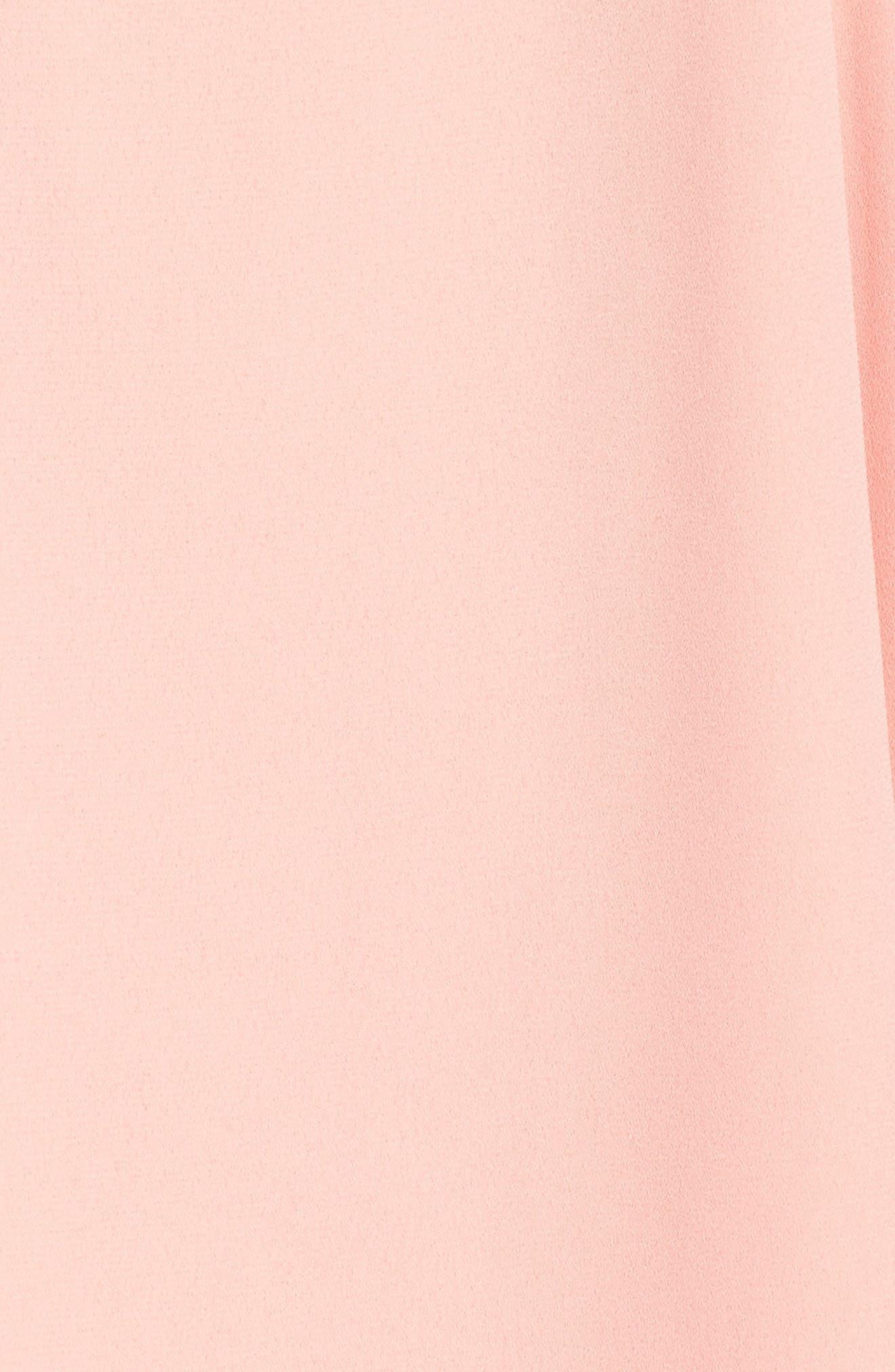 Lila Ruffle Trim Crepe Dress,                             Alternate thumbnail 5, color,                             650