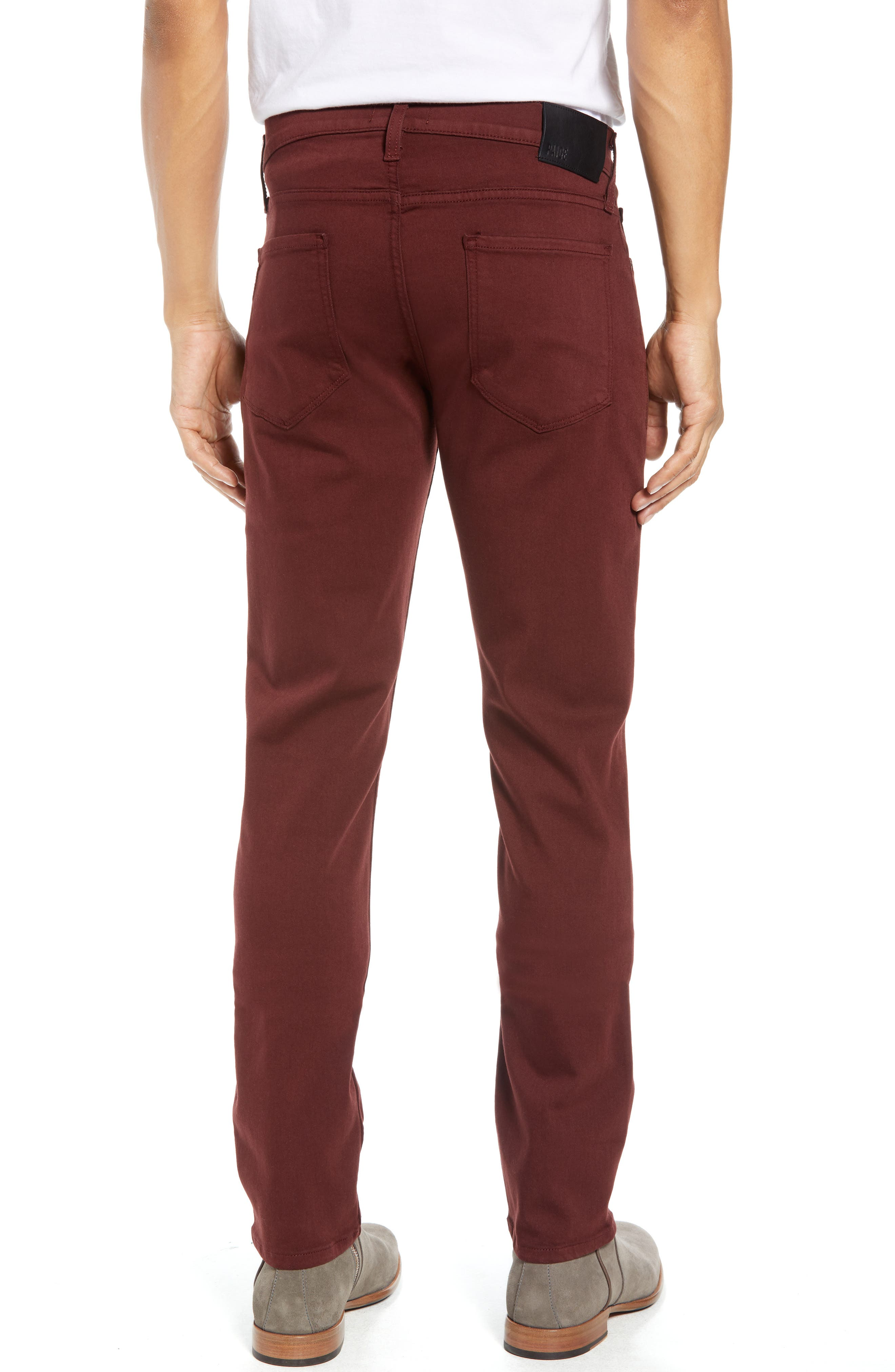 Transcend - Federal Slim Straight Leg Jeans,                             Alternate thumbnail 2, color,                             RUSTIC WINE