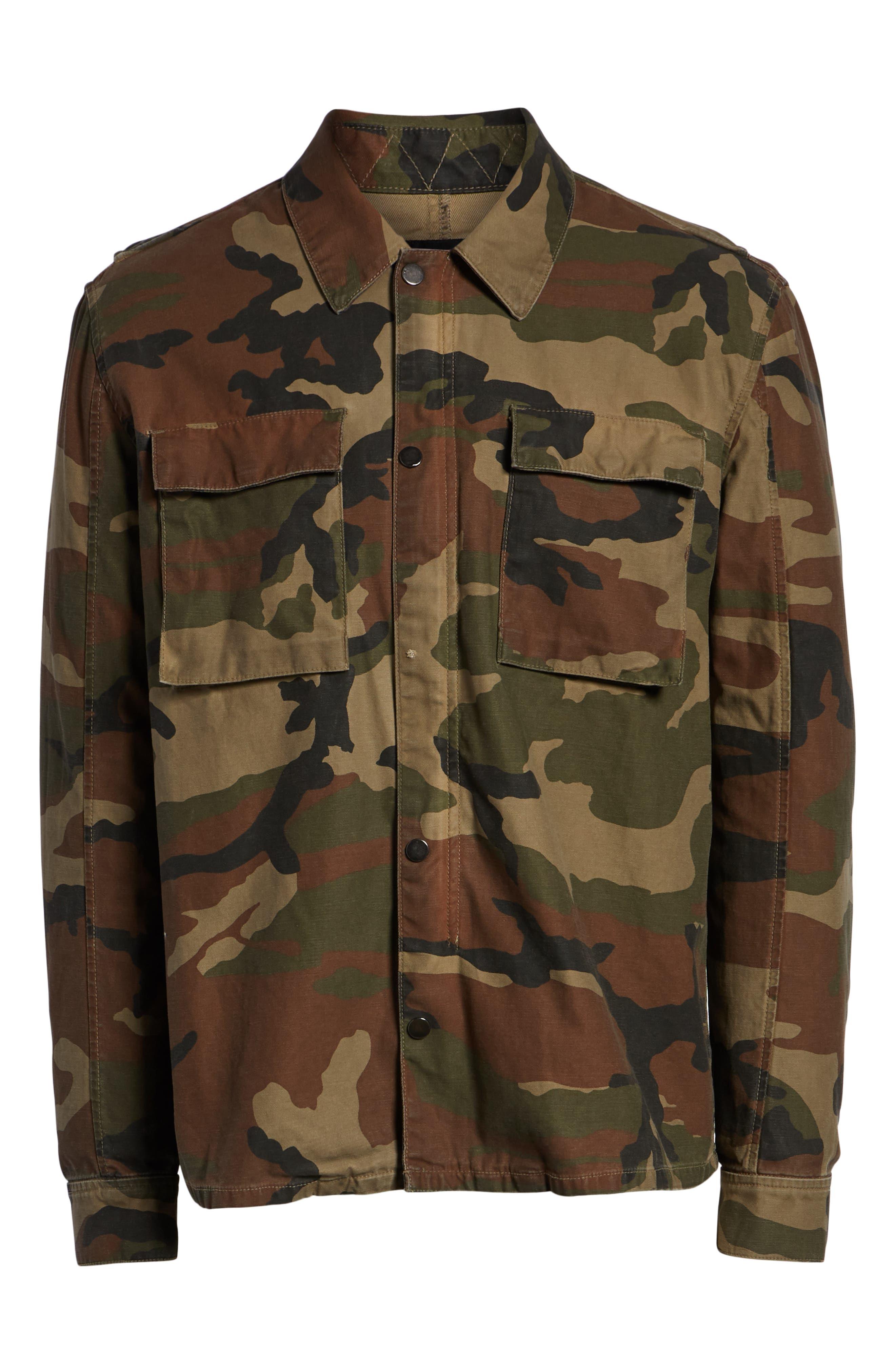 Wendell Slim Fit Camo Shirt Jacket,                             Alternate thumbnail 6, color,                             CAMO