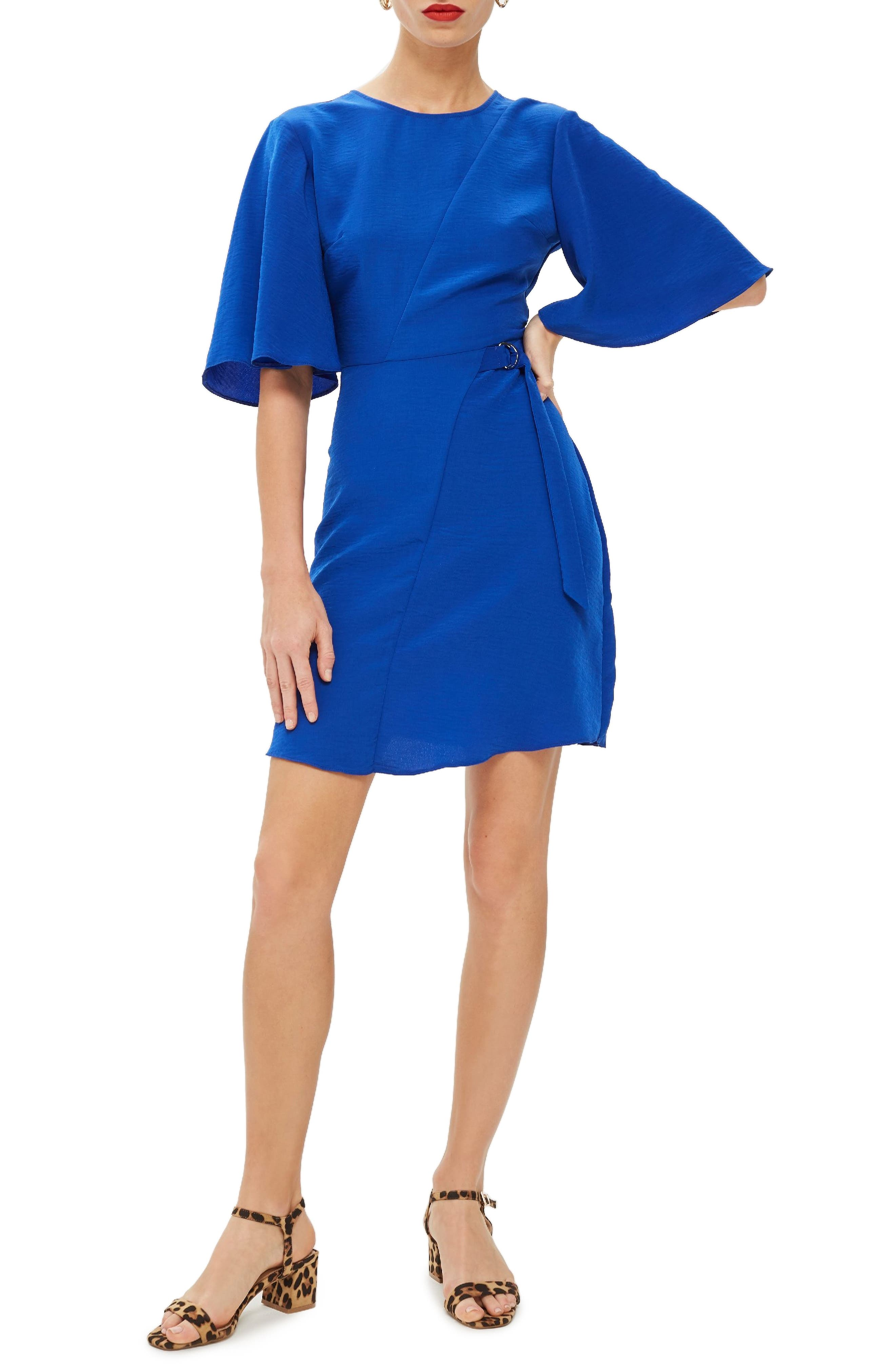 Topshop Cutabout Minidress, US (fits like 0) - Blue