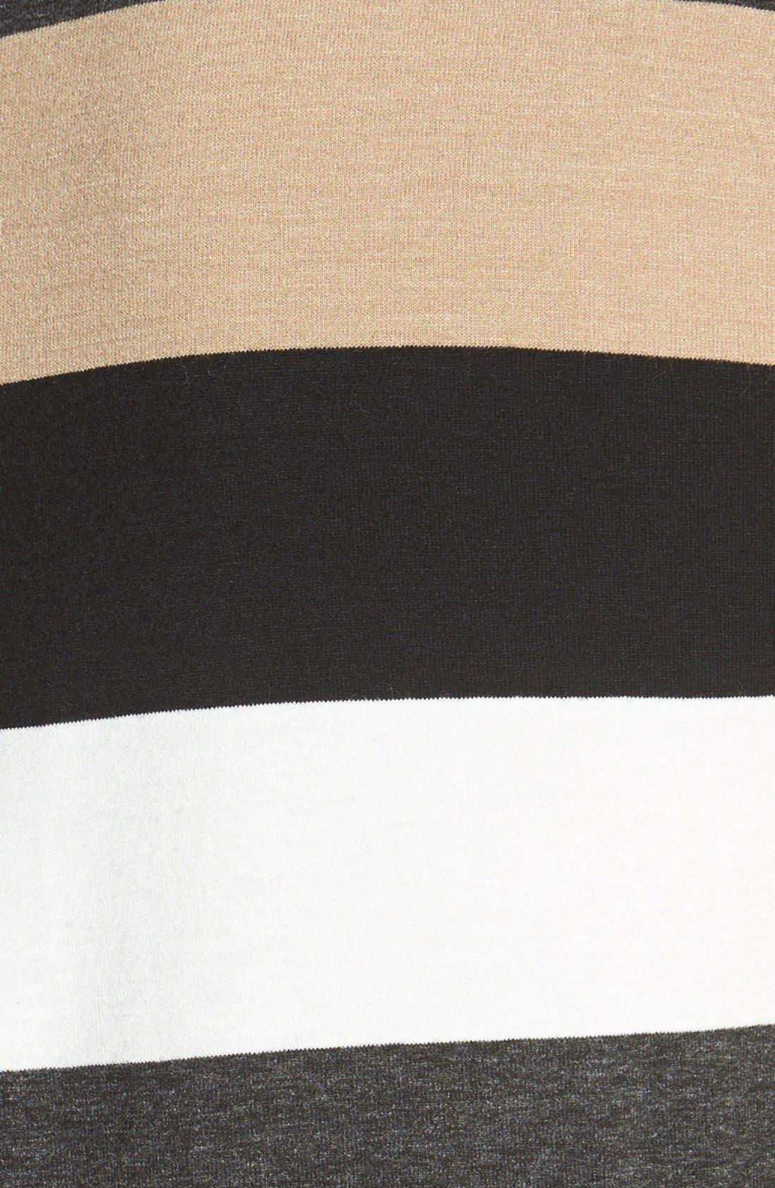 Faux Leather Trim Stripe Sleeveless Top,                             Alternate thumbnail 2, color,                             216