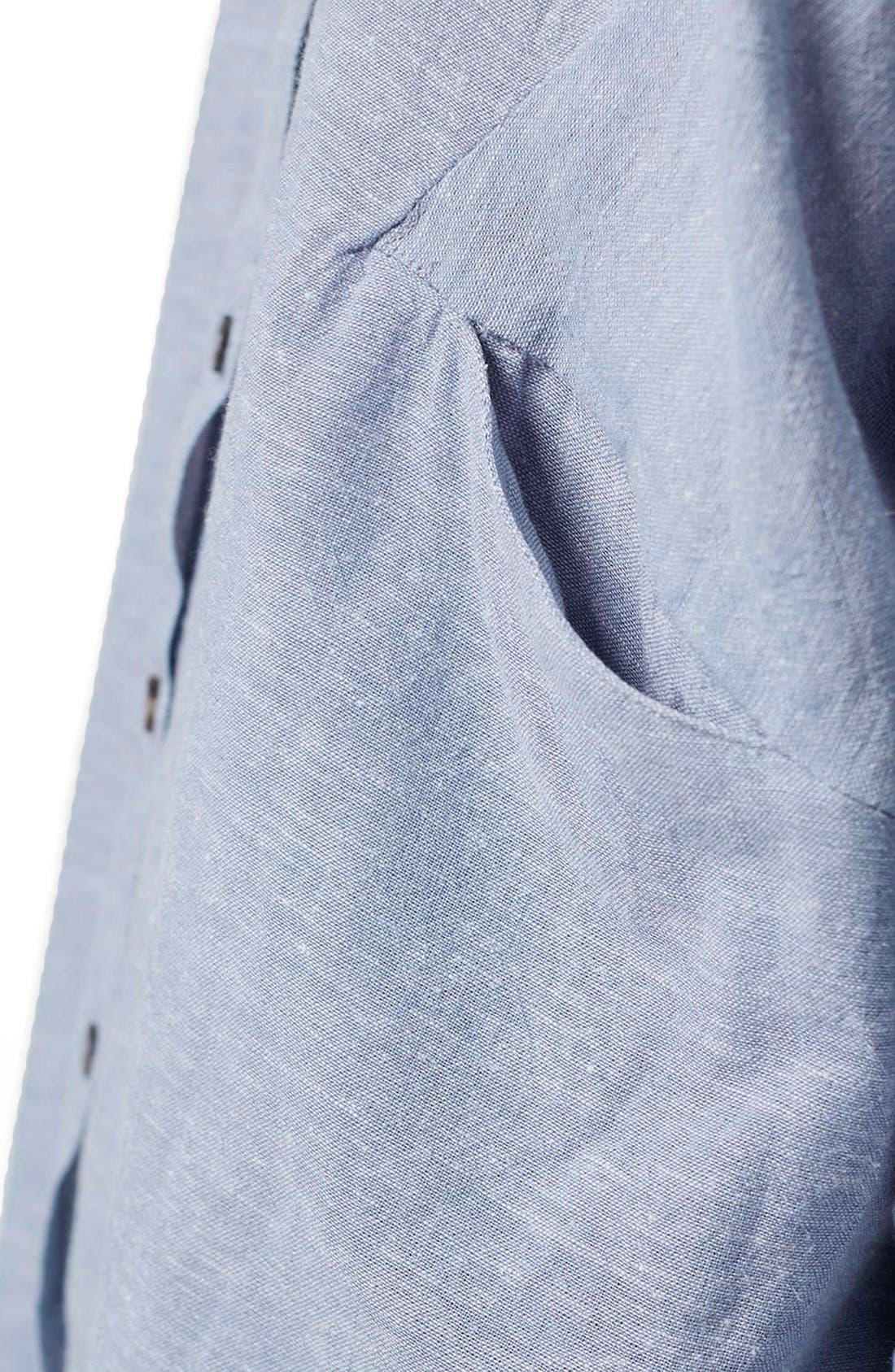 'Ivy' Oversize Chambray Shirt,                             Alternate thumbnail 6, color,