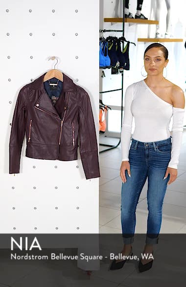 Lizia Minimal Biker Jacket, sales video thumbnail