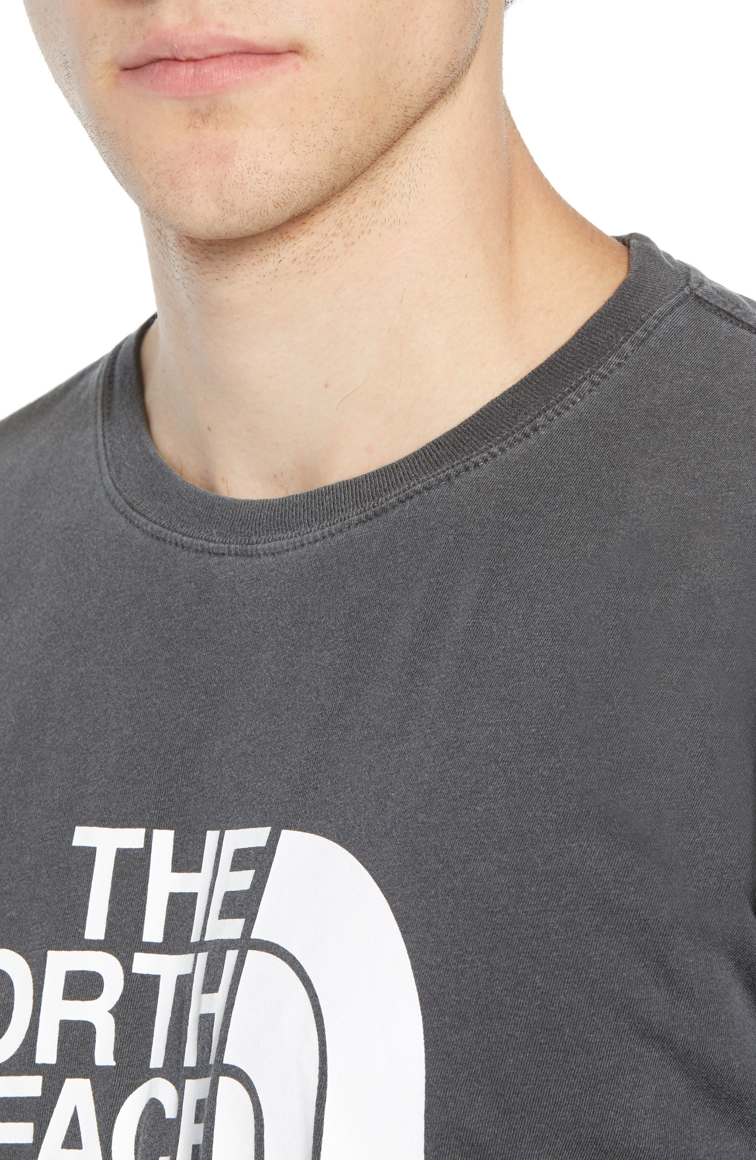 Half Dome Logo T-Shirt,                             Alternate thumbnail 4, color,                             WEATHERED BLACK