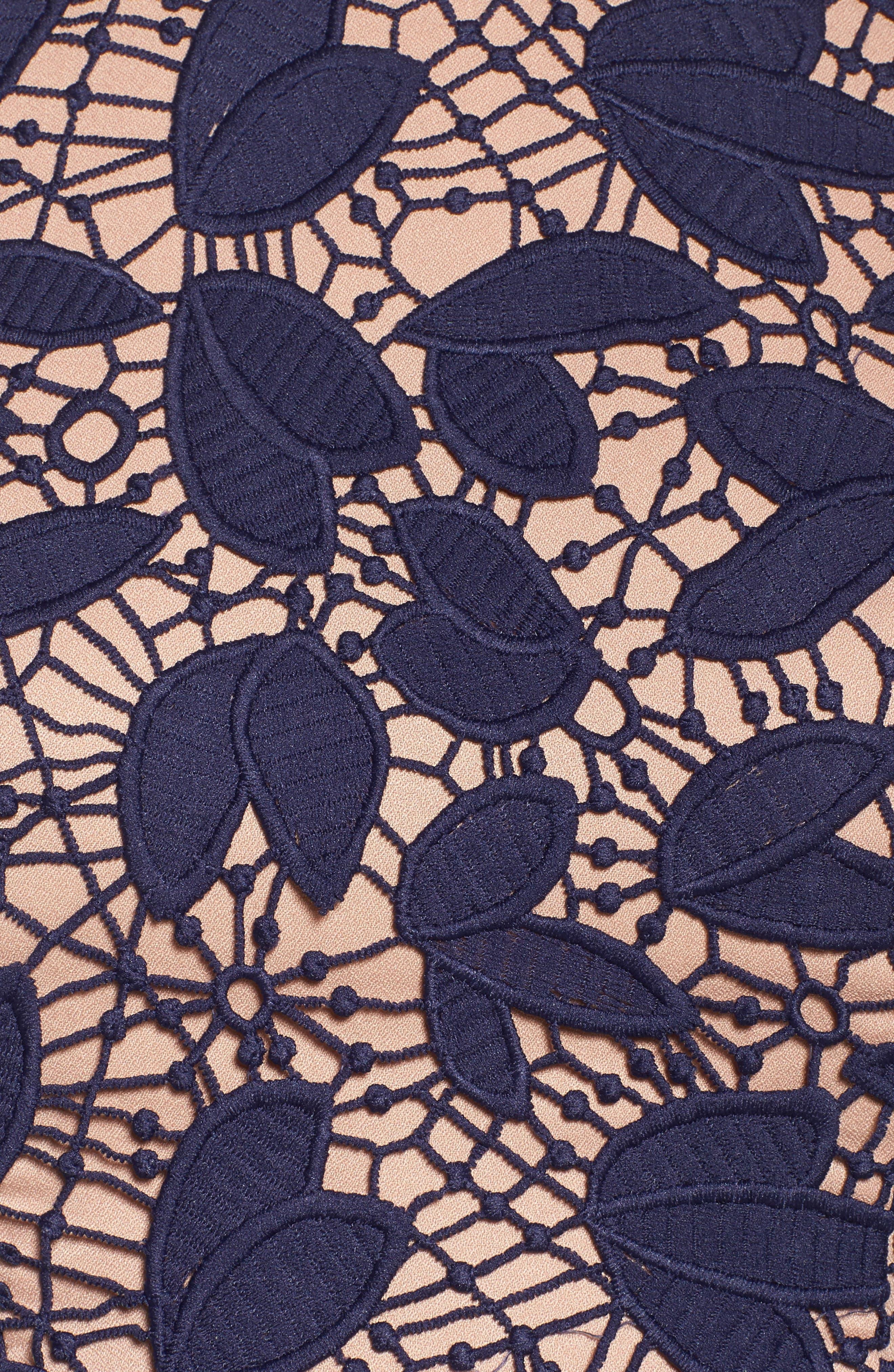 Petal Lace Gown,                             Alternate thumbnail 5, color,                             410