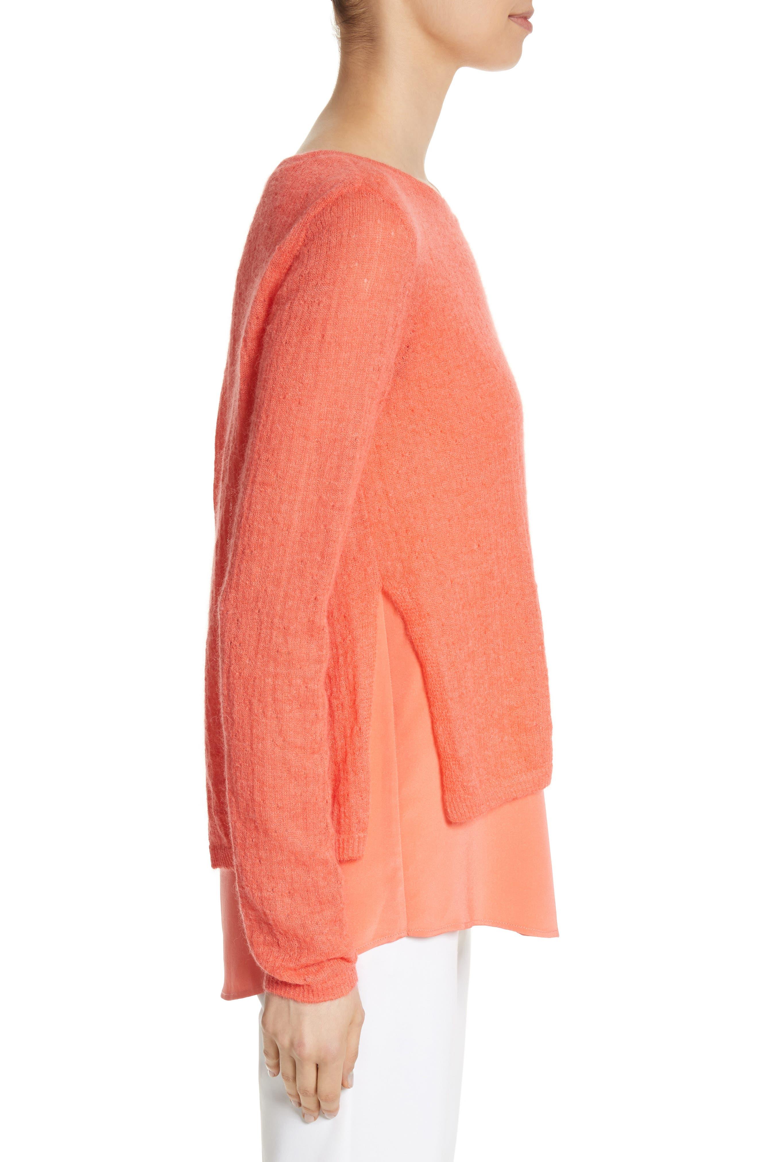 Drop Needle Rib Knit Sweater,                             Alternate thumbnail 3, color,                             950