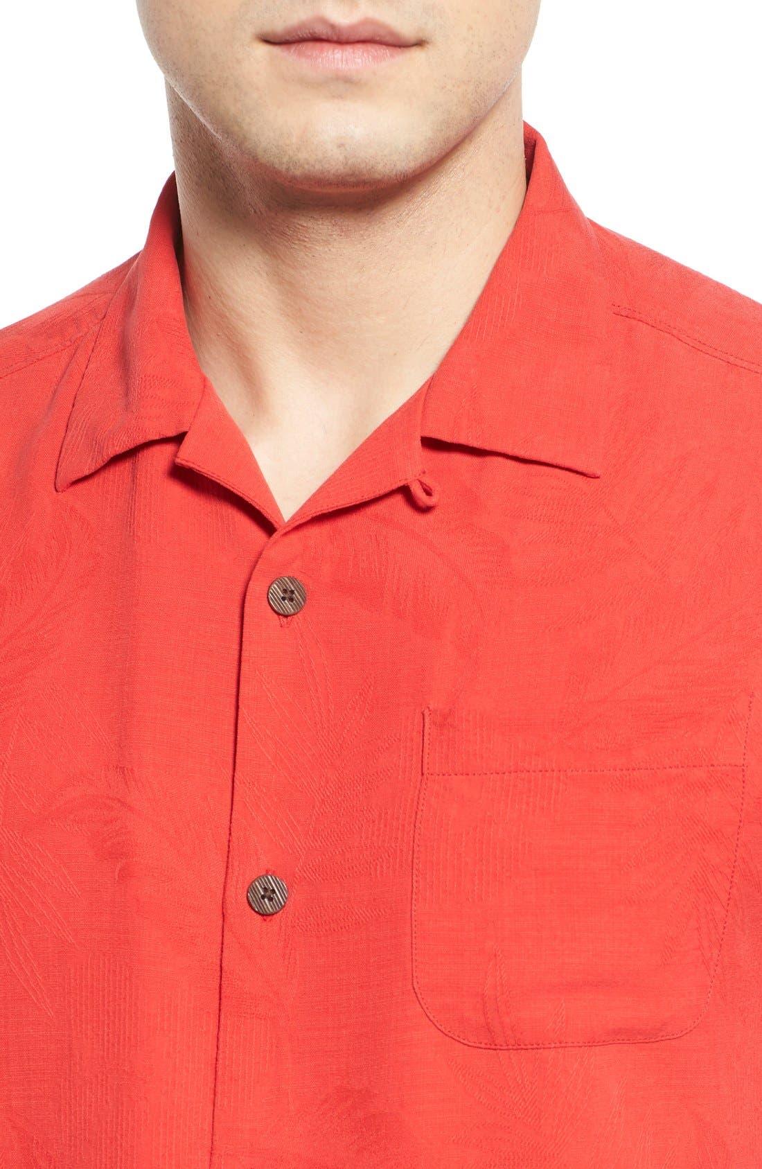 Rio Fronds Short Sleeve Silk Sport Shirt,                             Alternate thumbnail 61, color,