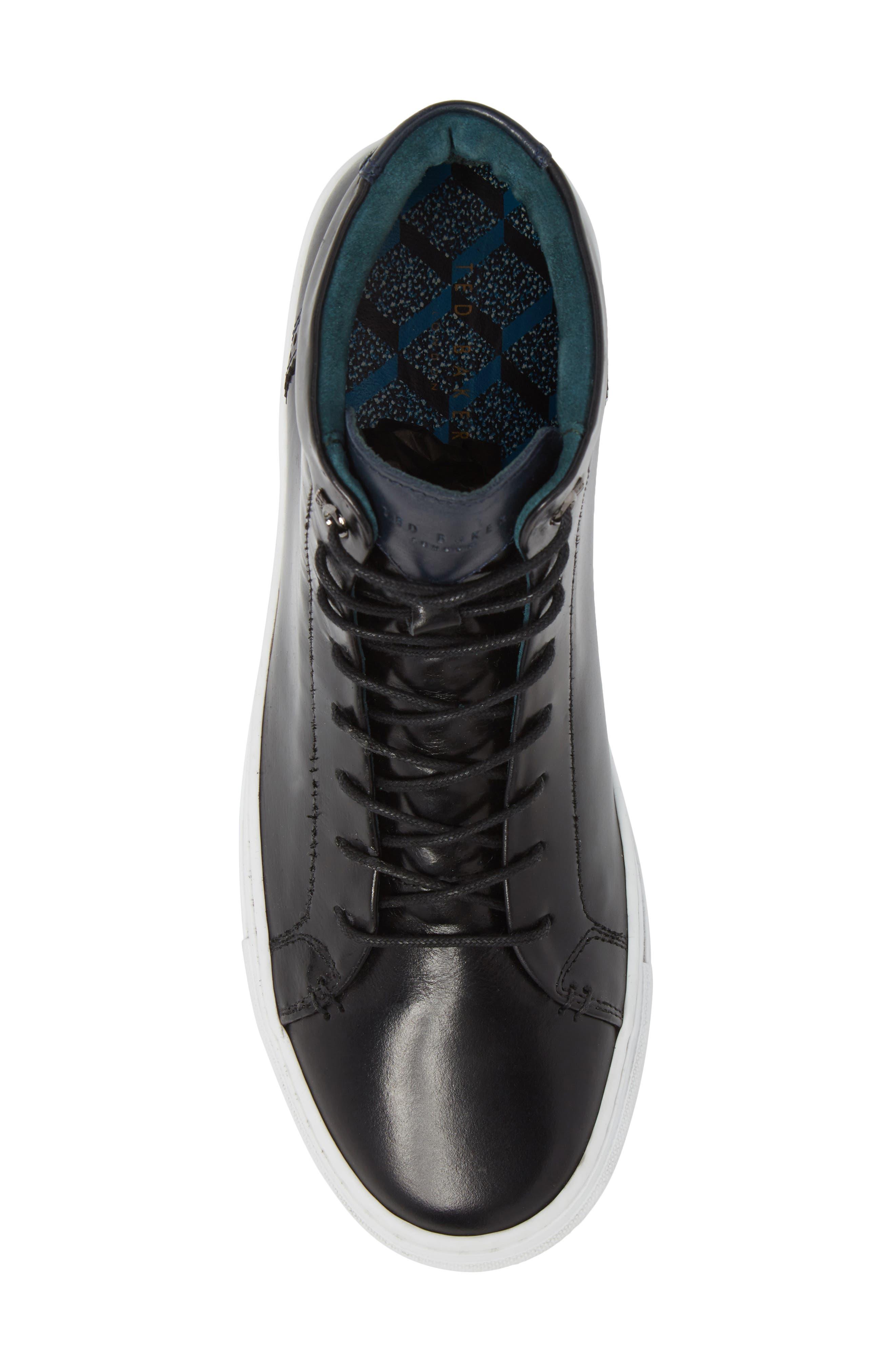 Monerkk High Top Sneaker,                             Alternate thumbnail 5, color,                             001