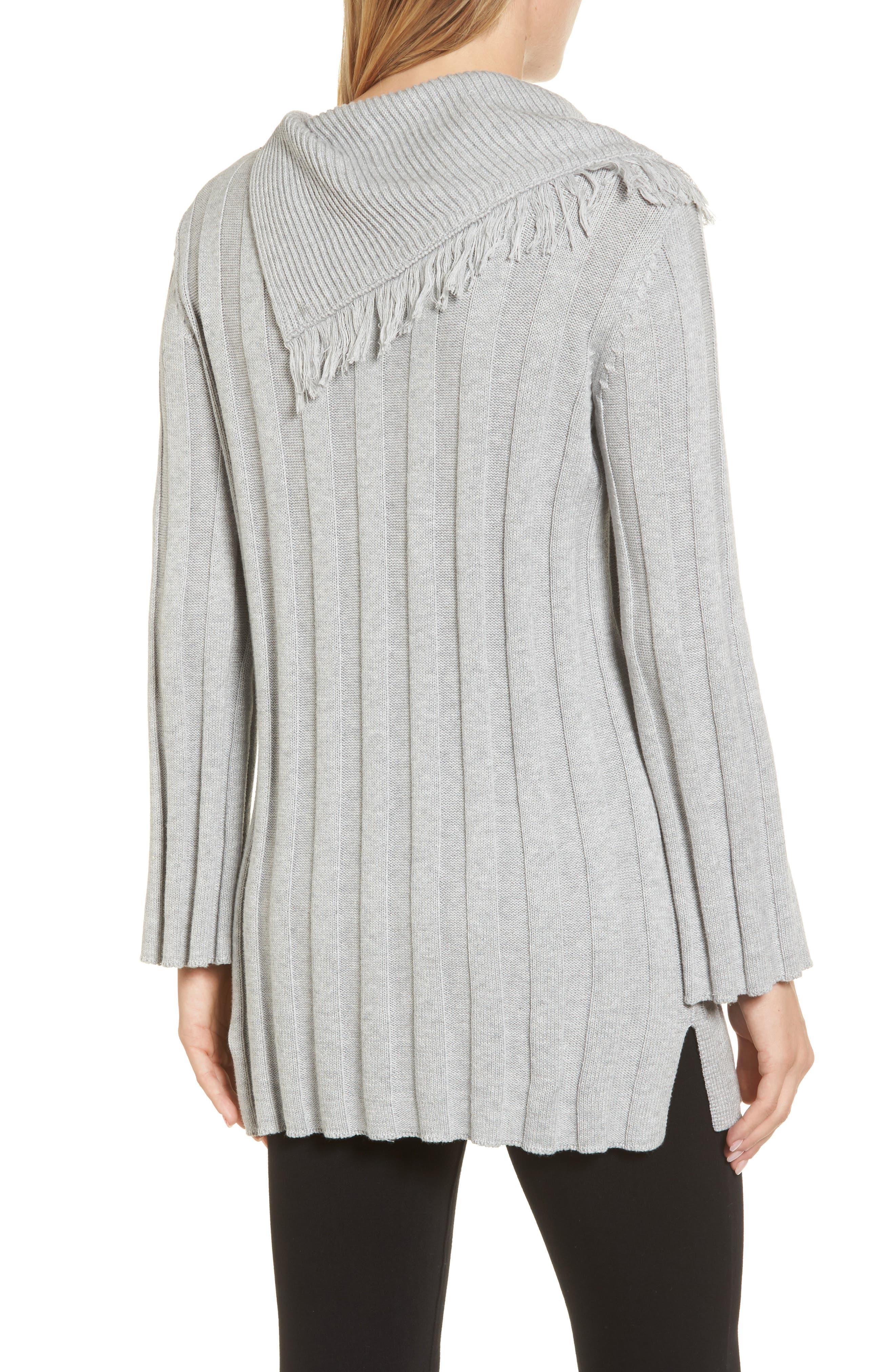 Fringe Cowl Neck Sweater,                             Alternate thumbnail 5, color,