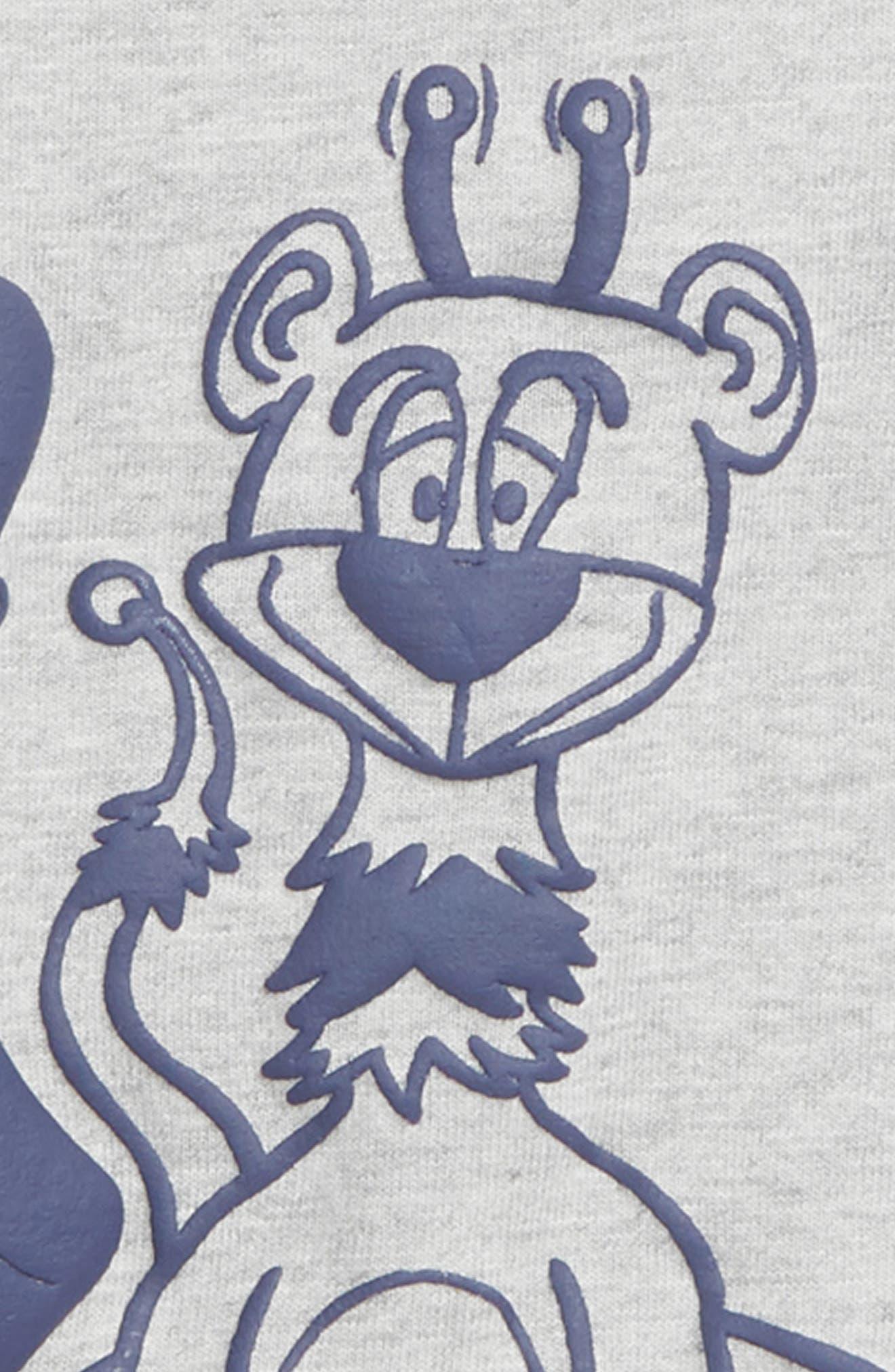 BILLIONAIRE BOYS CLUB,                             Zookeeper T-Shirt,                             Alternate thumbnail 2, color,                             HEATHER GREY