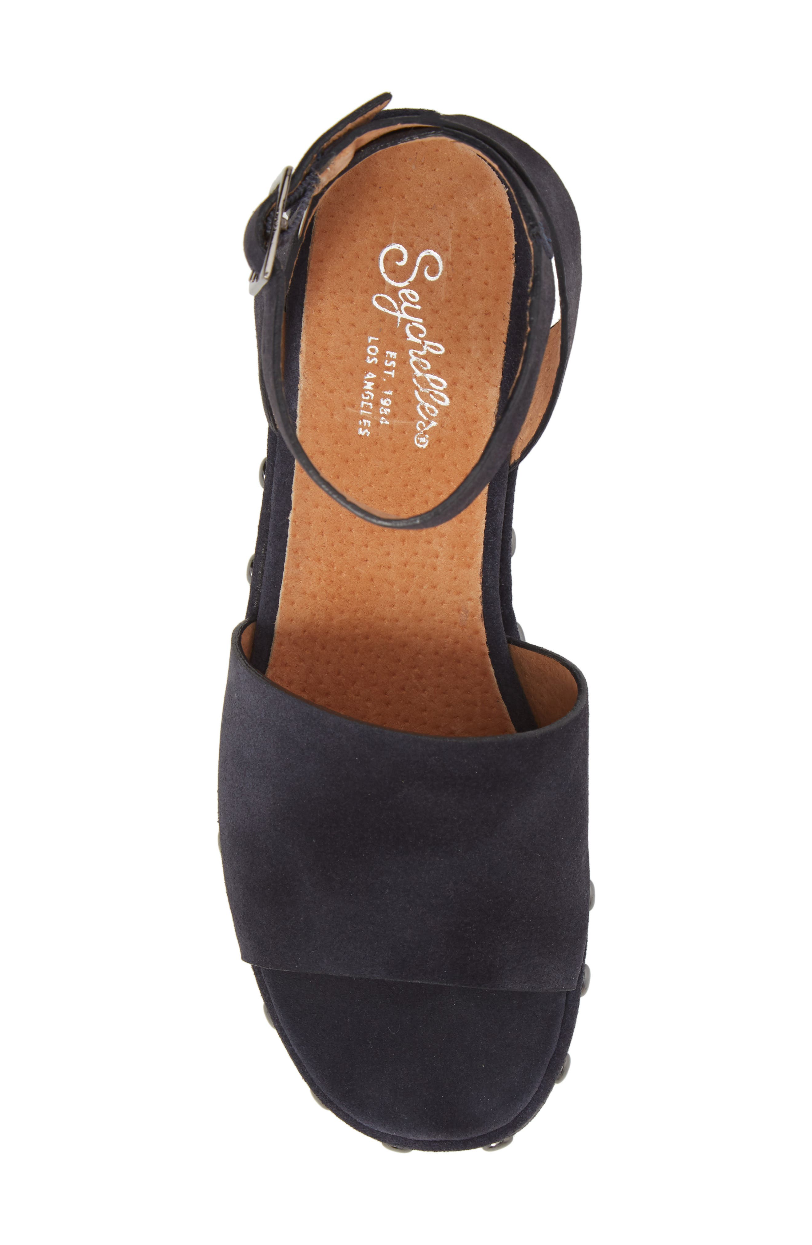 Spare Moments Sandal,                             Alternate thumbnail 5, color,                             NAVY SUEDE
