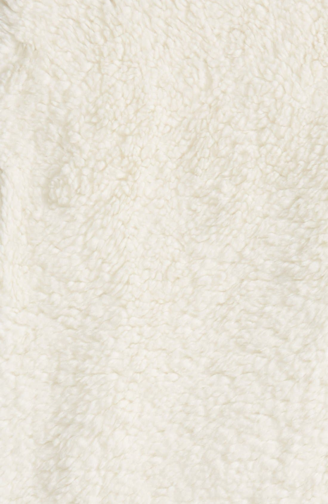 Nordstrom Jersey/Faux Fur Throw,                             Alternate thumbnail 16, color,