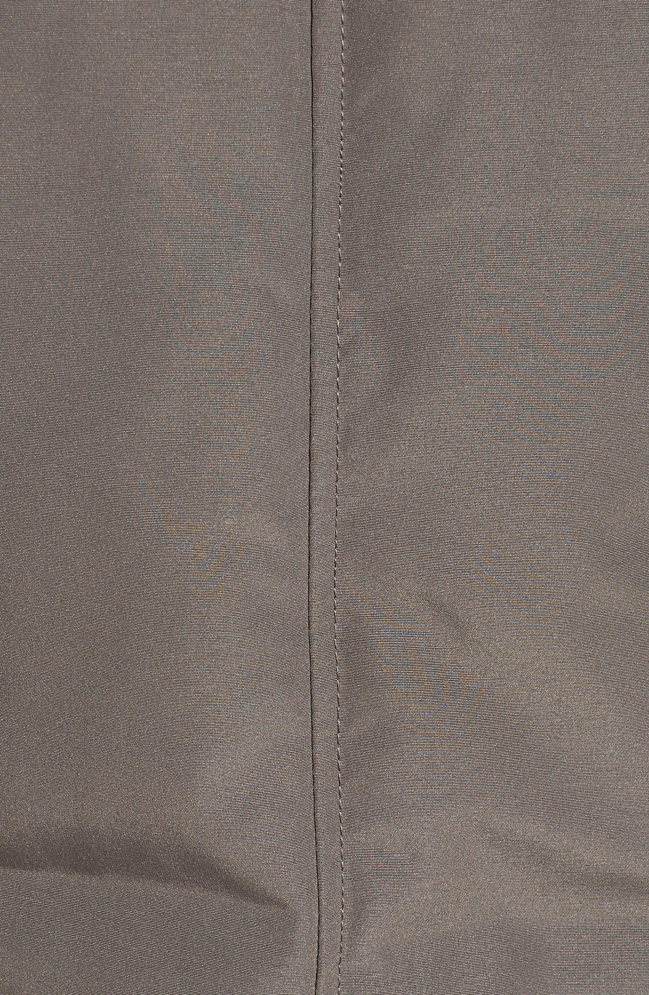 Faux Fur Trim Down Jacket,                             Alternate thumbnail 7, color,                             LIGHT GREY