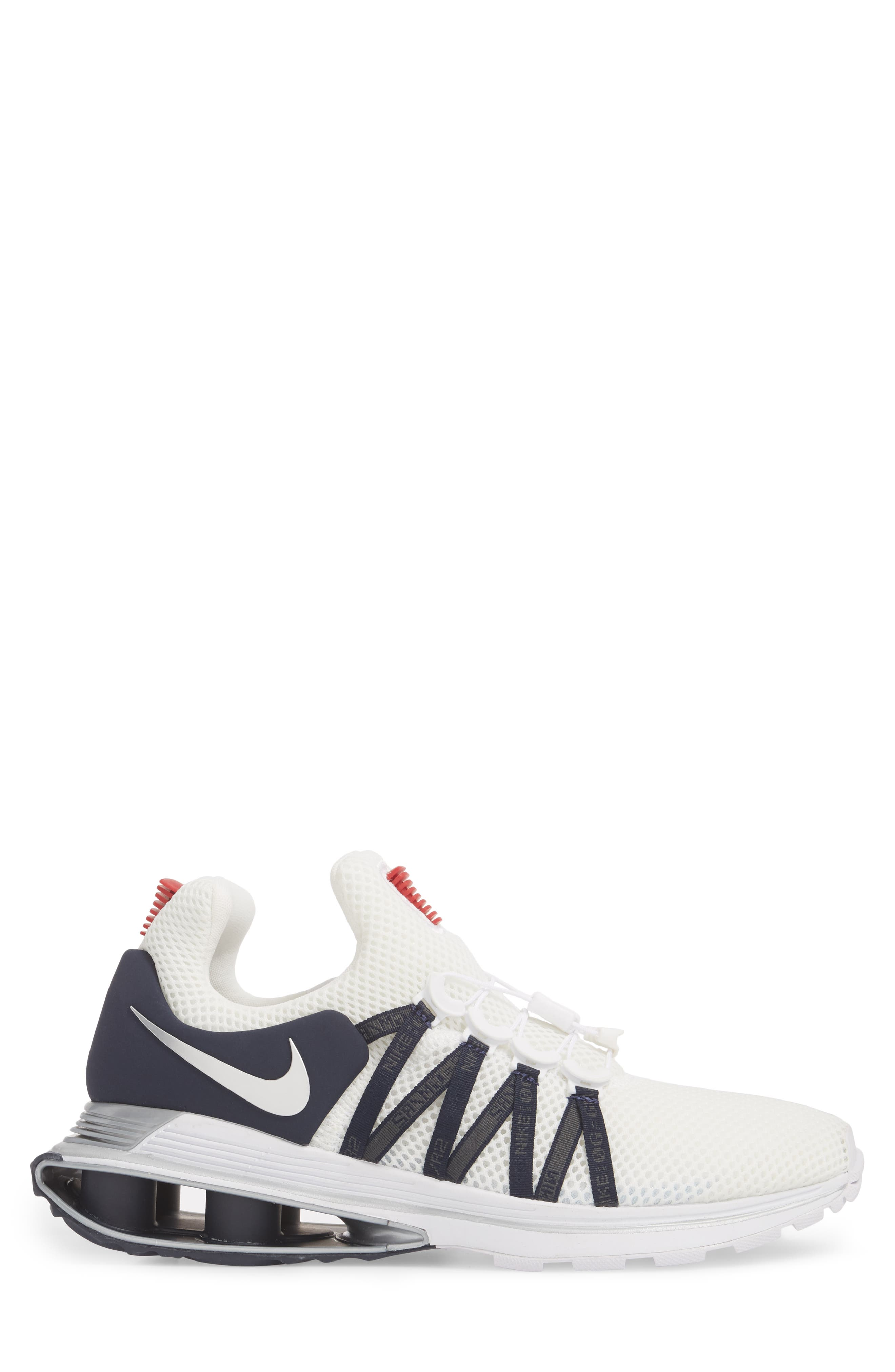 Shox Gravity Sneaker,                             Alternate thumbnail 3, color,                             WHITE/ METALLIC SILVER