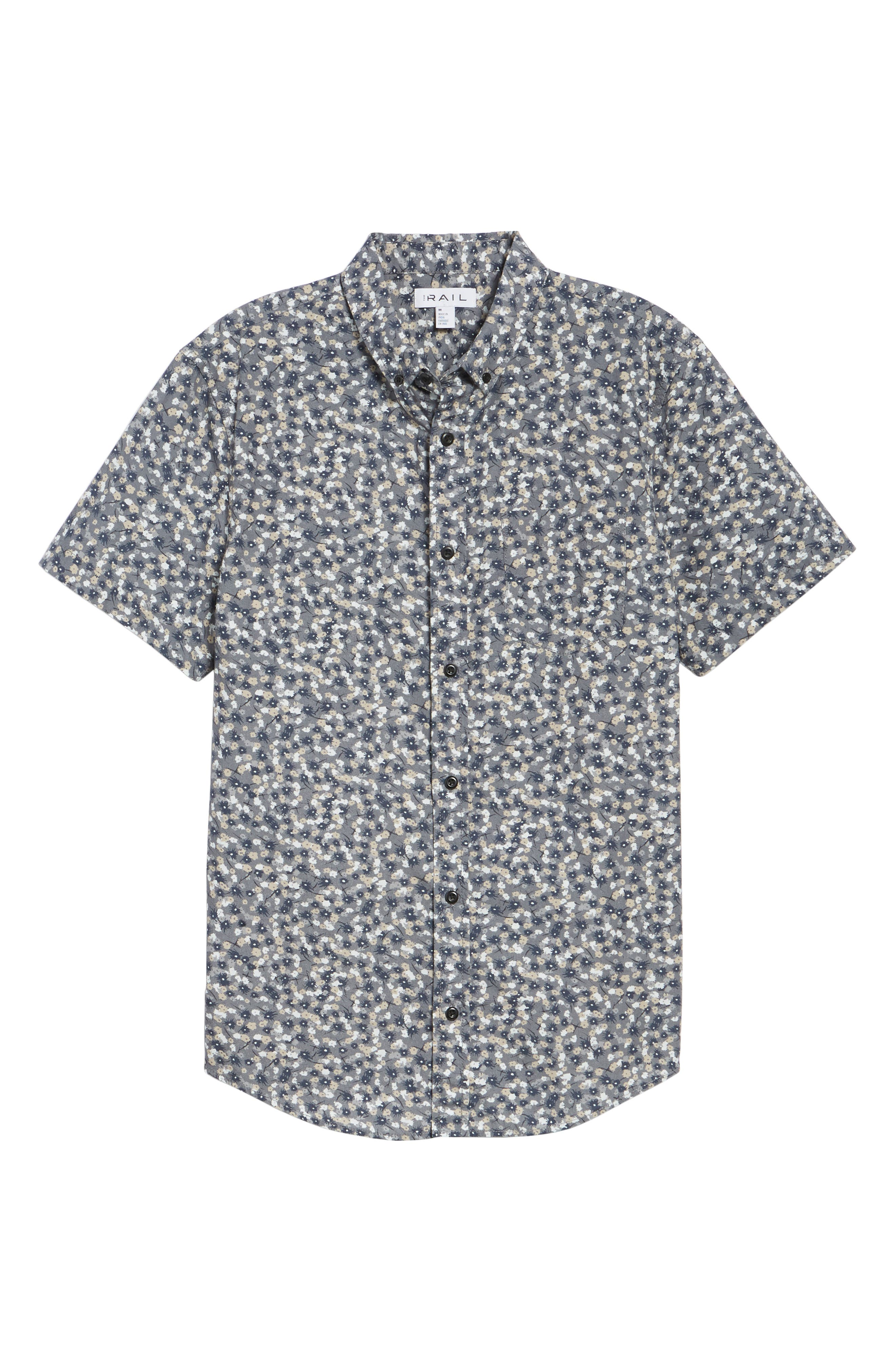 Printed Cotton Poplin Shirt,                             Alternate thumbnail 6, color,                             030