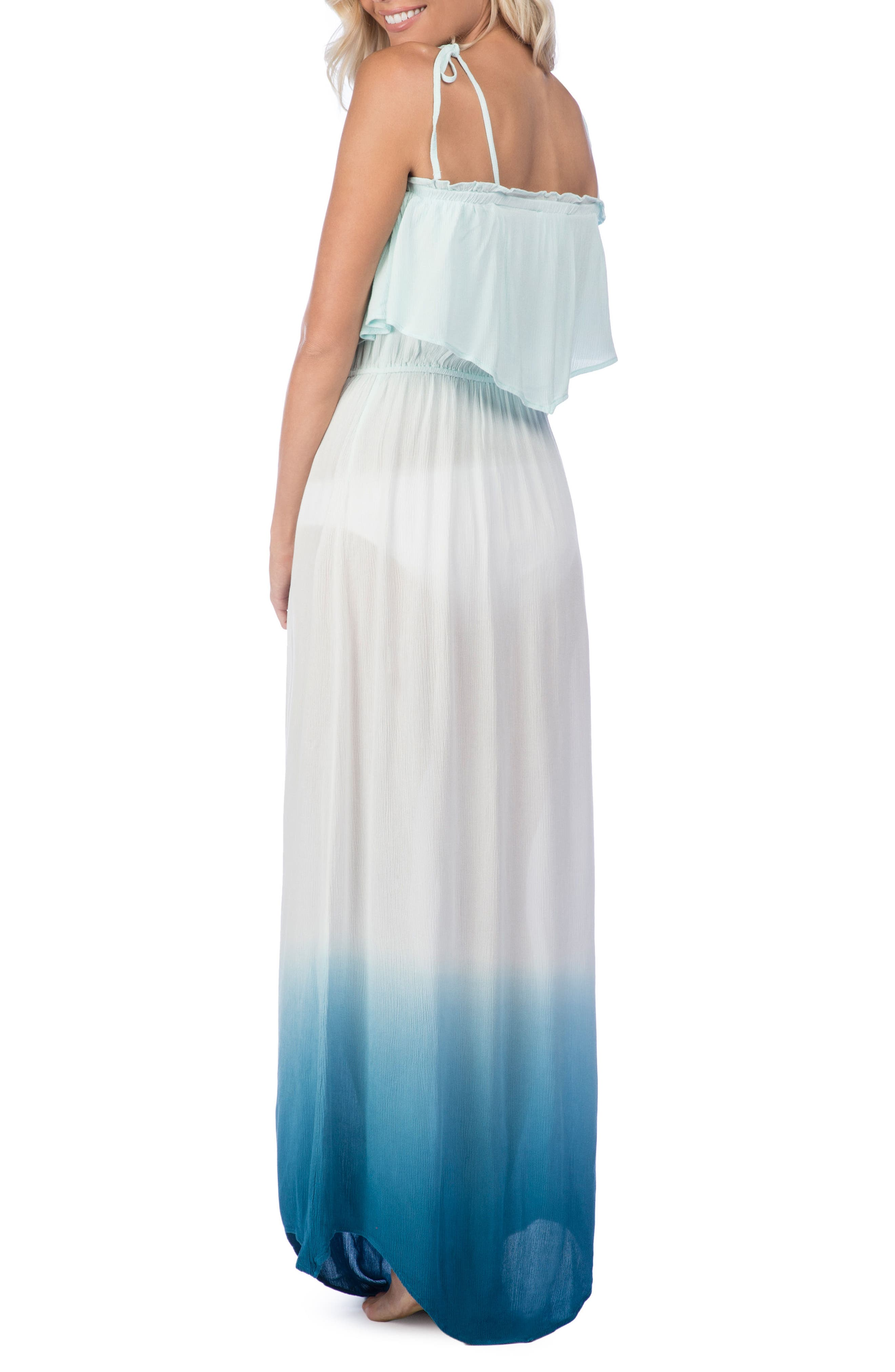 Paloma Dip Dye Cover-Up Maxi Dress,                             Alternate thumbnail 2, color,                             400
