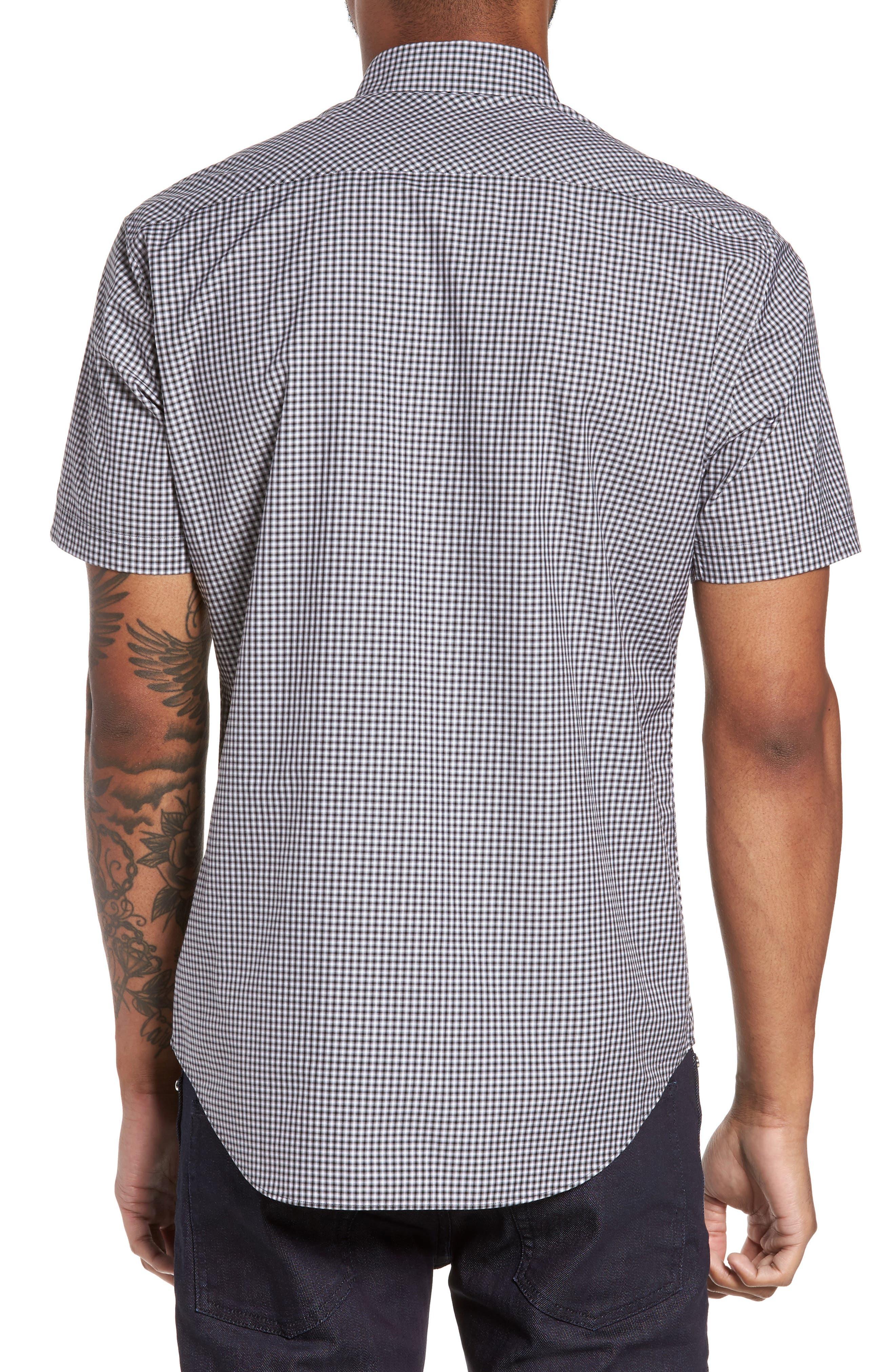 Ahmed Slim Fit Plaid Sport Shirt,                             Alternate thumbnail 2, color,                             021