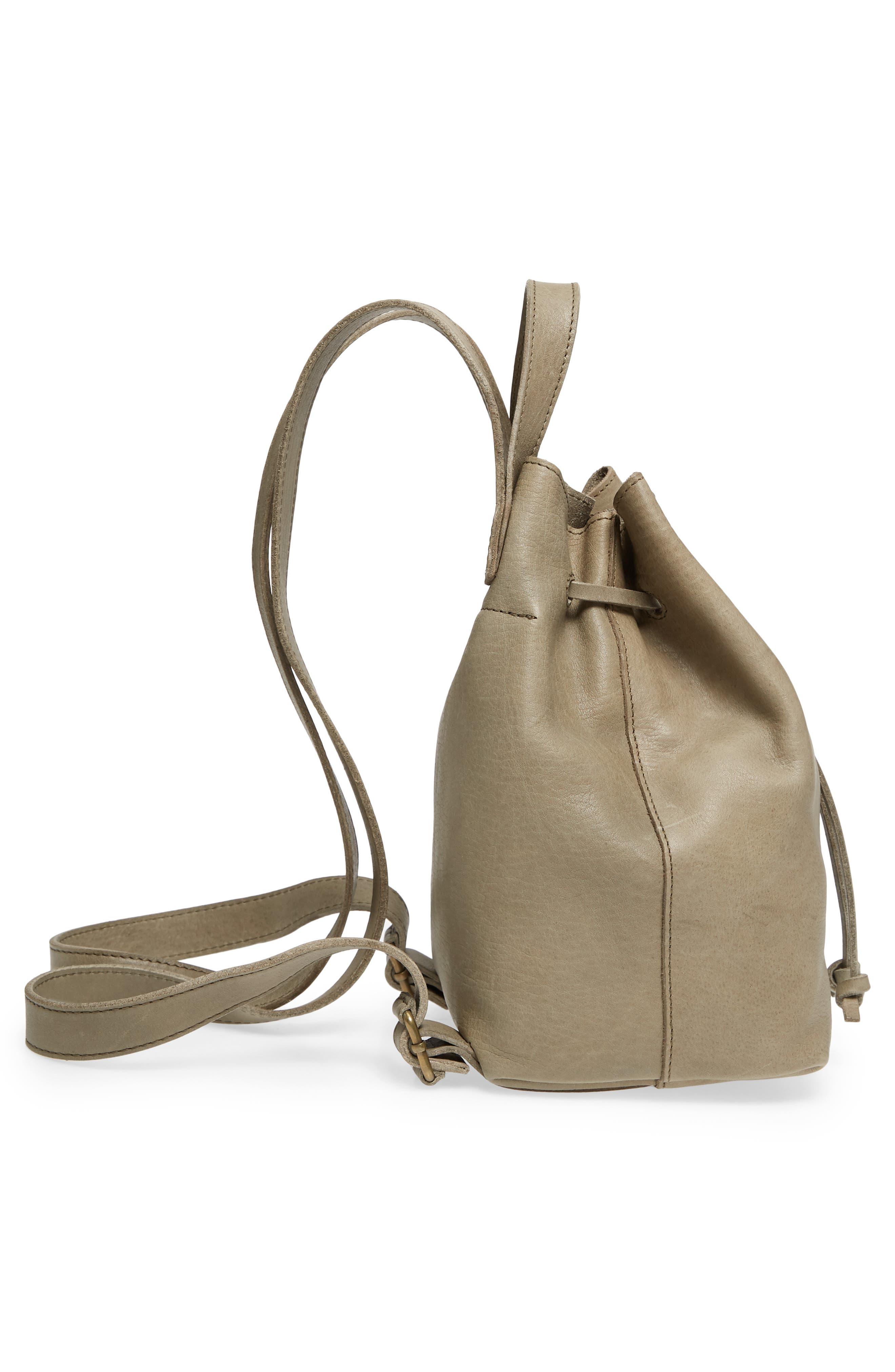 Mini Somerset Leather Backpack,                             Alternate thumbnail 5, color,                             FORGOTTEN LANDSCAPE