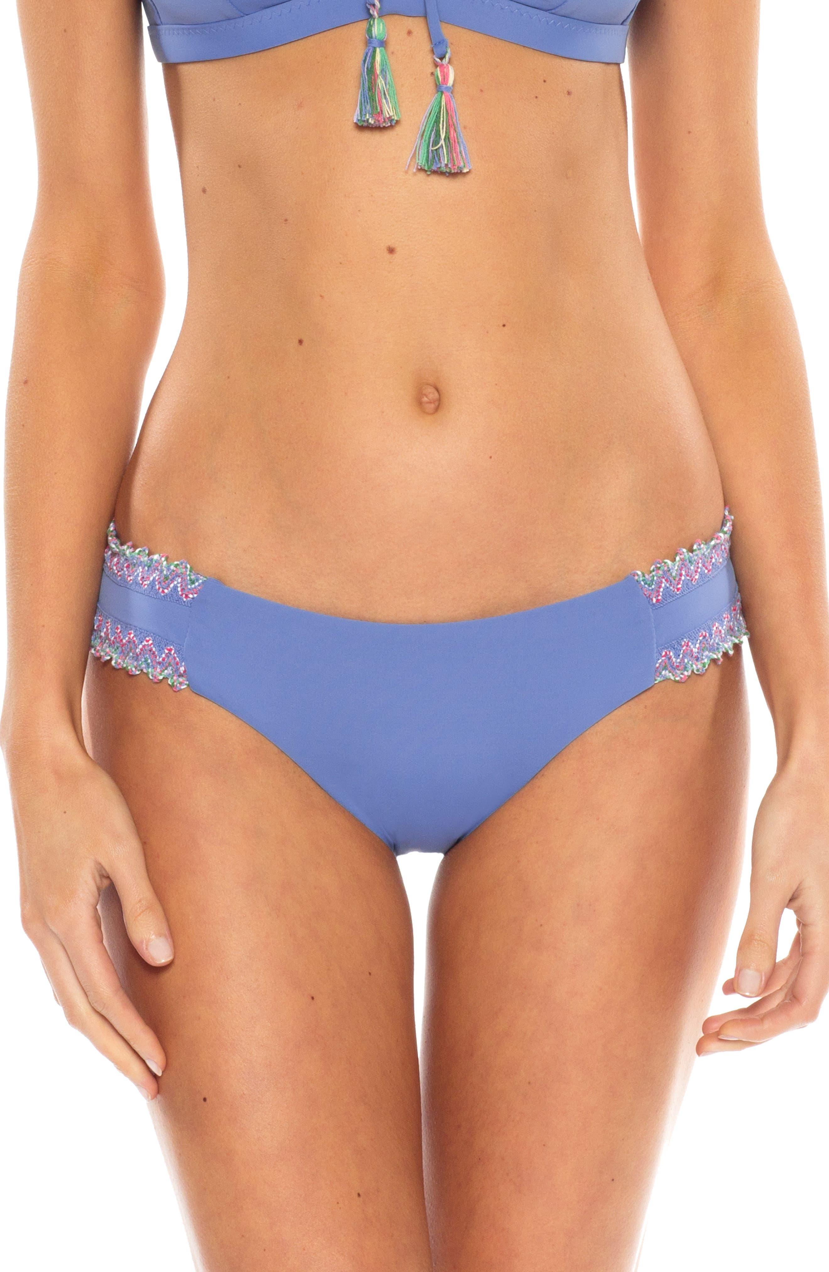Becca Mardi Gras Hipster Bikini Bottoms, Blue
