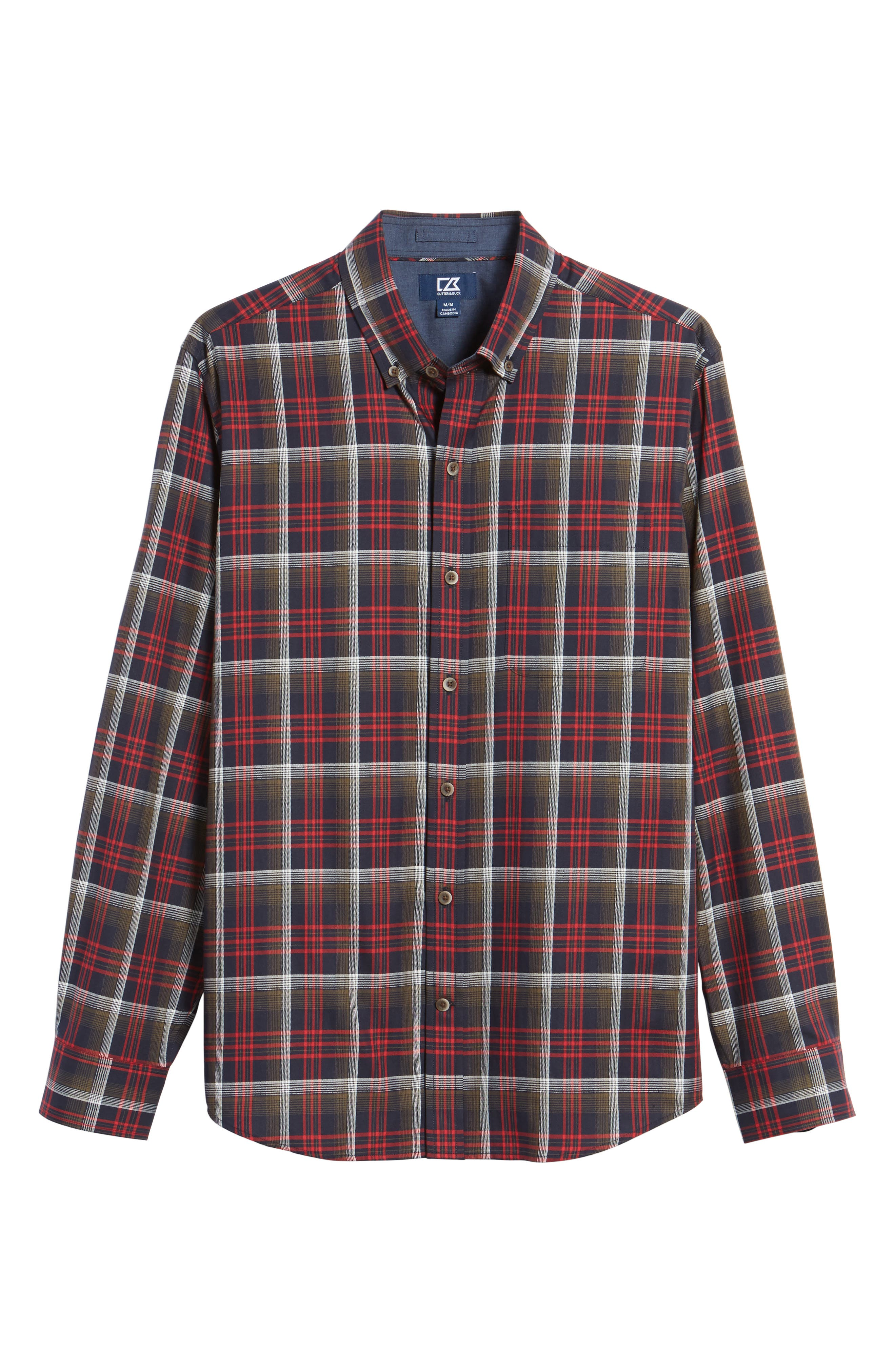 Dry Creek Non-Iron Plaid Sport Shirt,                             Alternate thumbnail 6, color,                             622