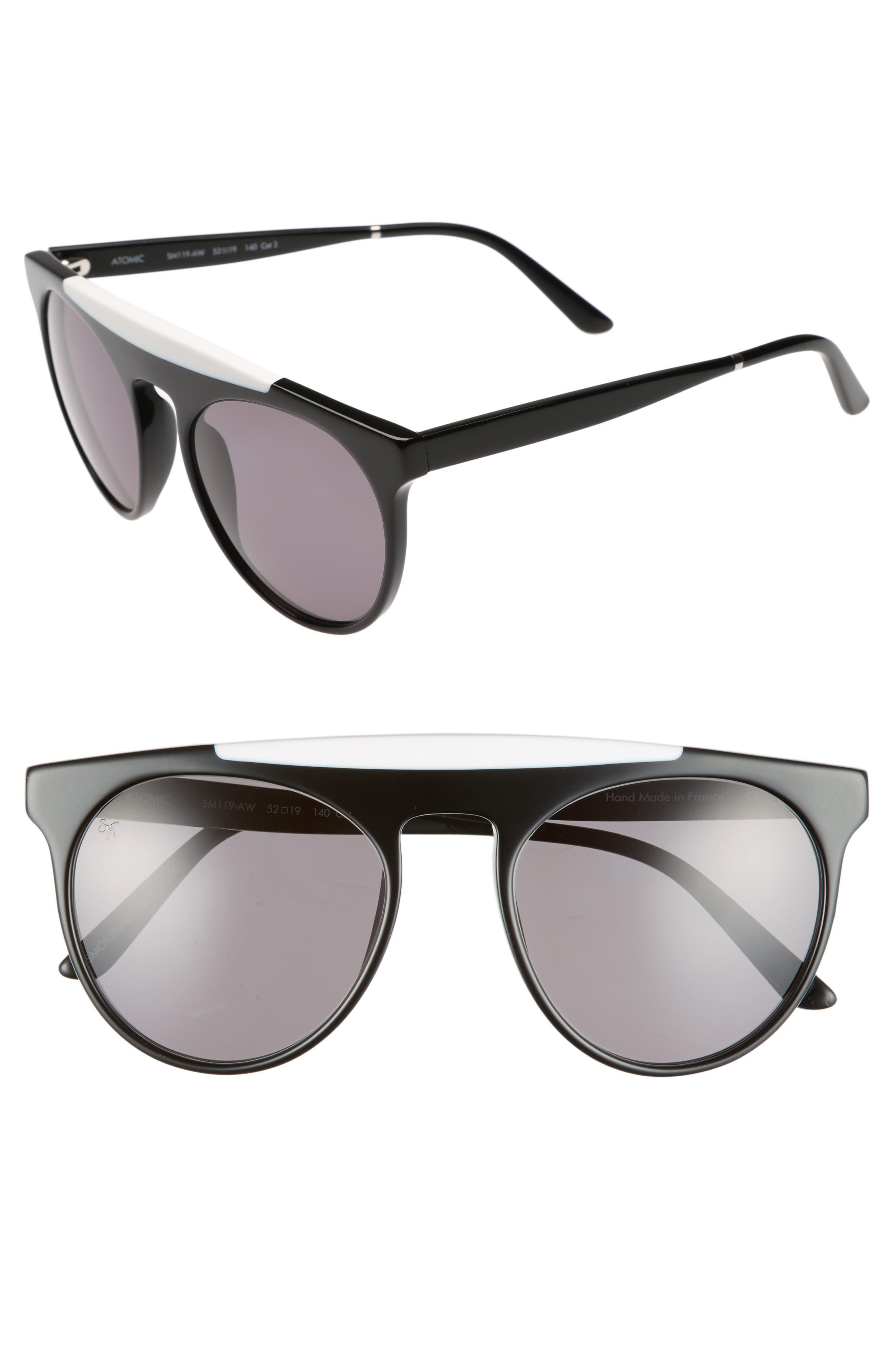 Atomic 52mm Sunglasses,                             Main thumbnail 1, color,                             001