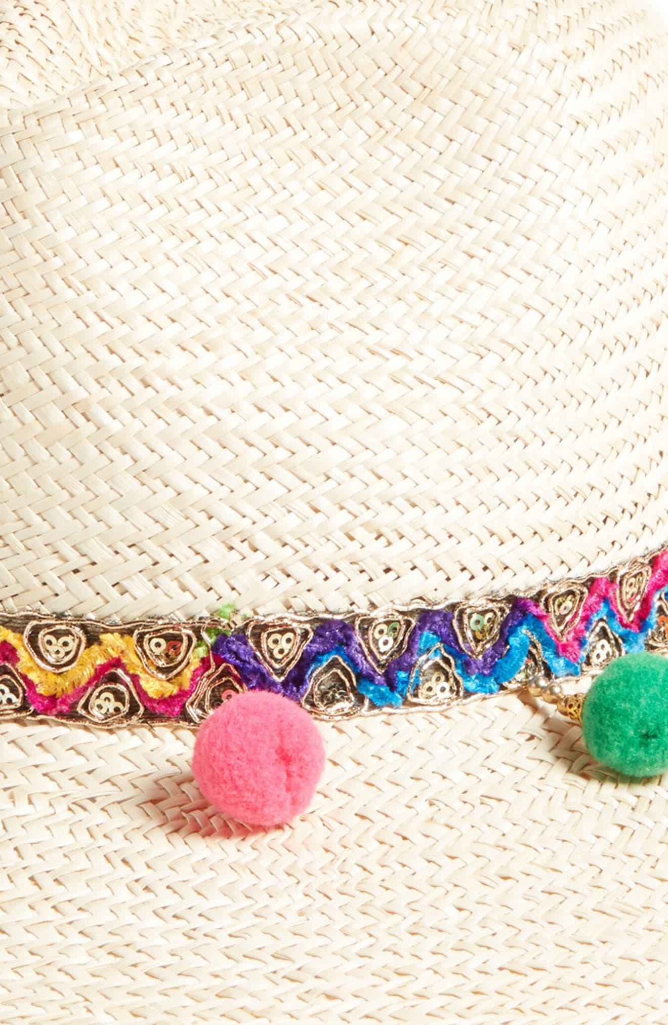 Chakra Frayed Edge Safari Hat,                             Alternate thumbnail 2, color,