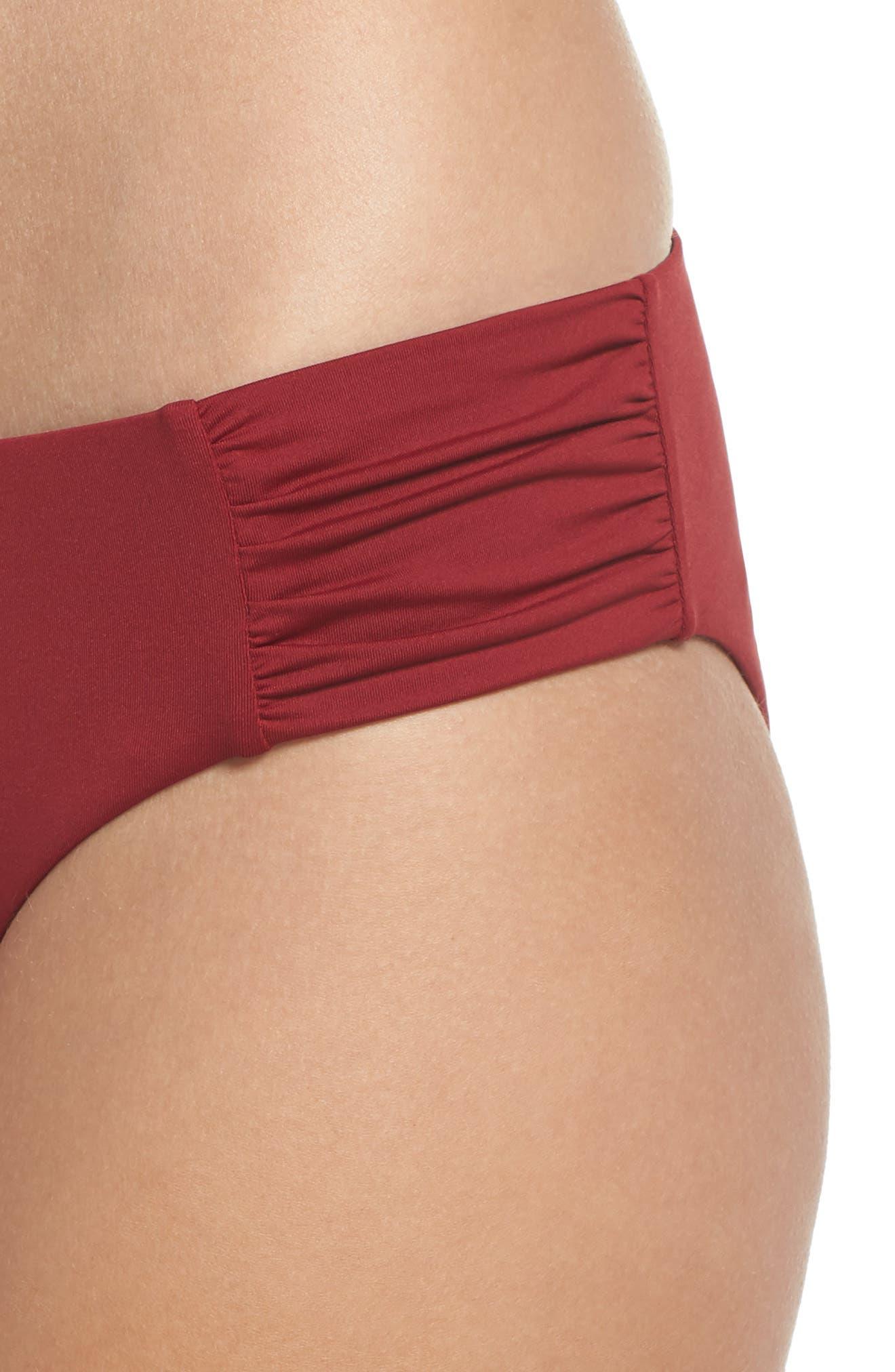 Sienna Reversible Hipster Bikini Bottoms,                             Alternate thumbnail 5, color,                             RED RUMBA