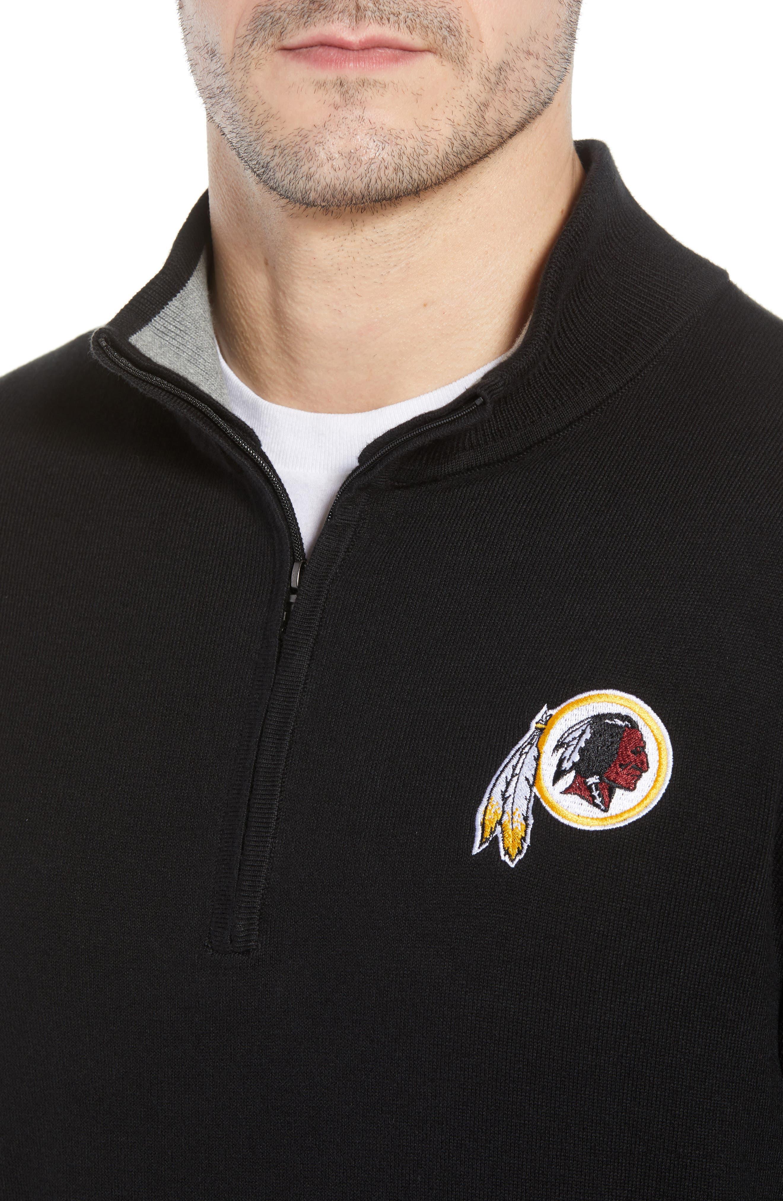 Washington - Lakemont Regular Fit Quarter Zip Sweater,                             Alternate thumbnail 4, color,                             BLACK