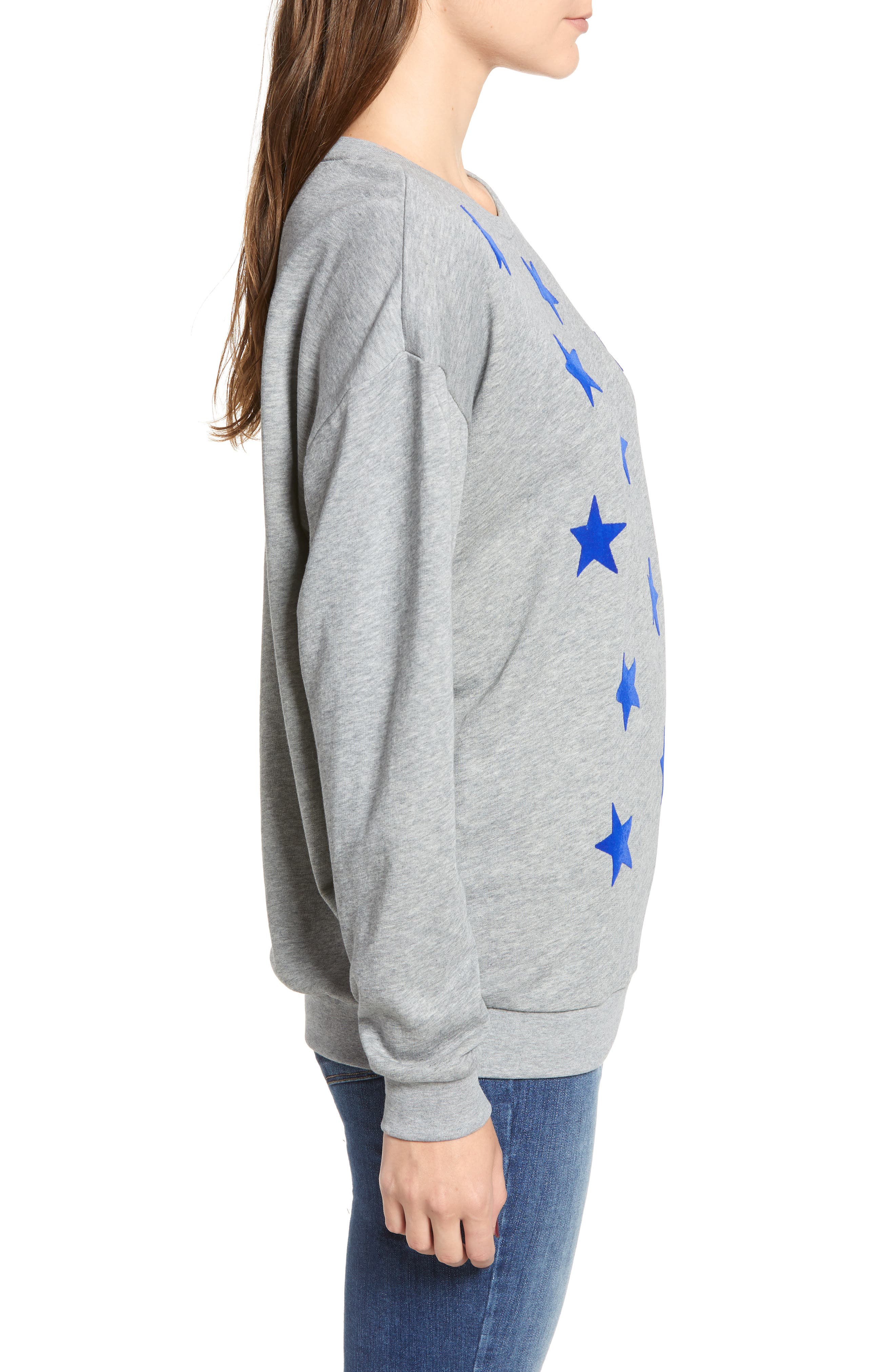 Alexa Stars Sweatshirt,                             Alternate thumbnail 3, color,                             GREY
