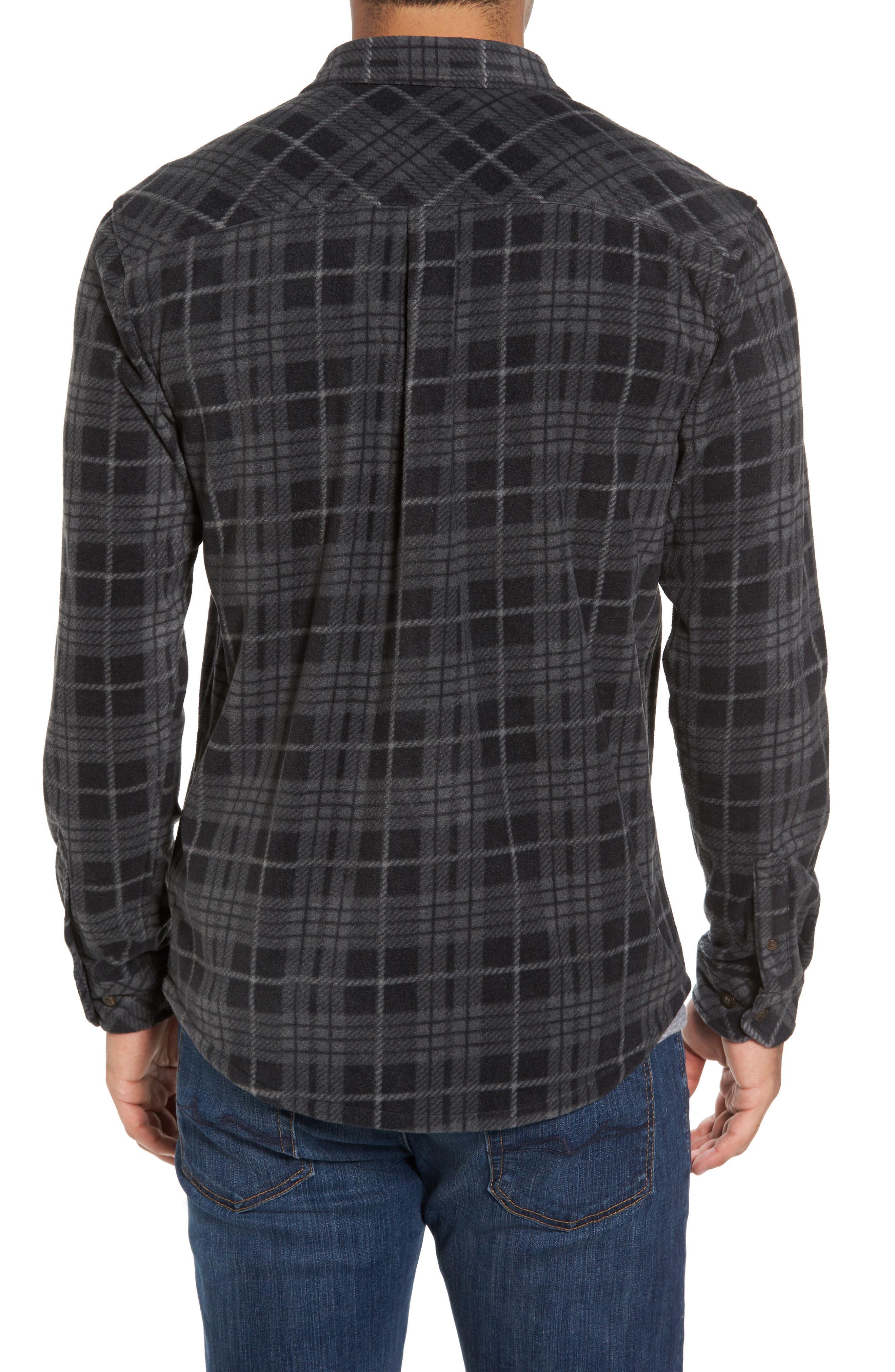 Breakers Regular Fit Plaid Fleece Shirt,                             Alternate thumbnail 2, color,                             001