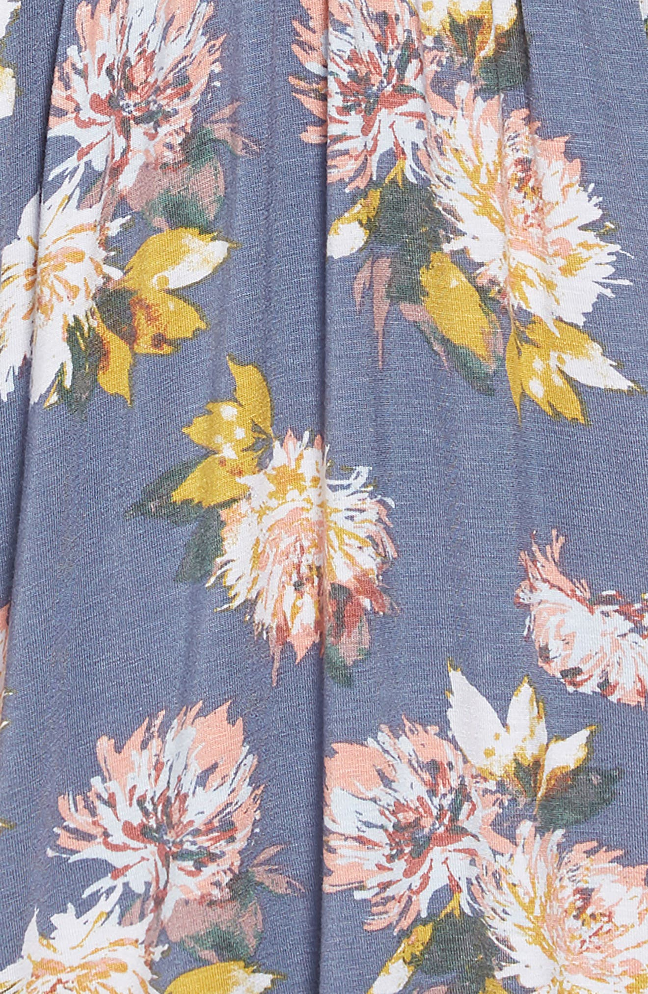 Lena Floral Dress,                             Alternate thumbnail 3, color,                             SLATE