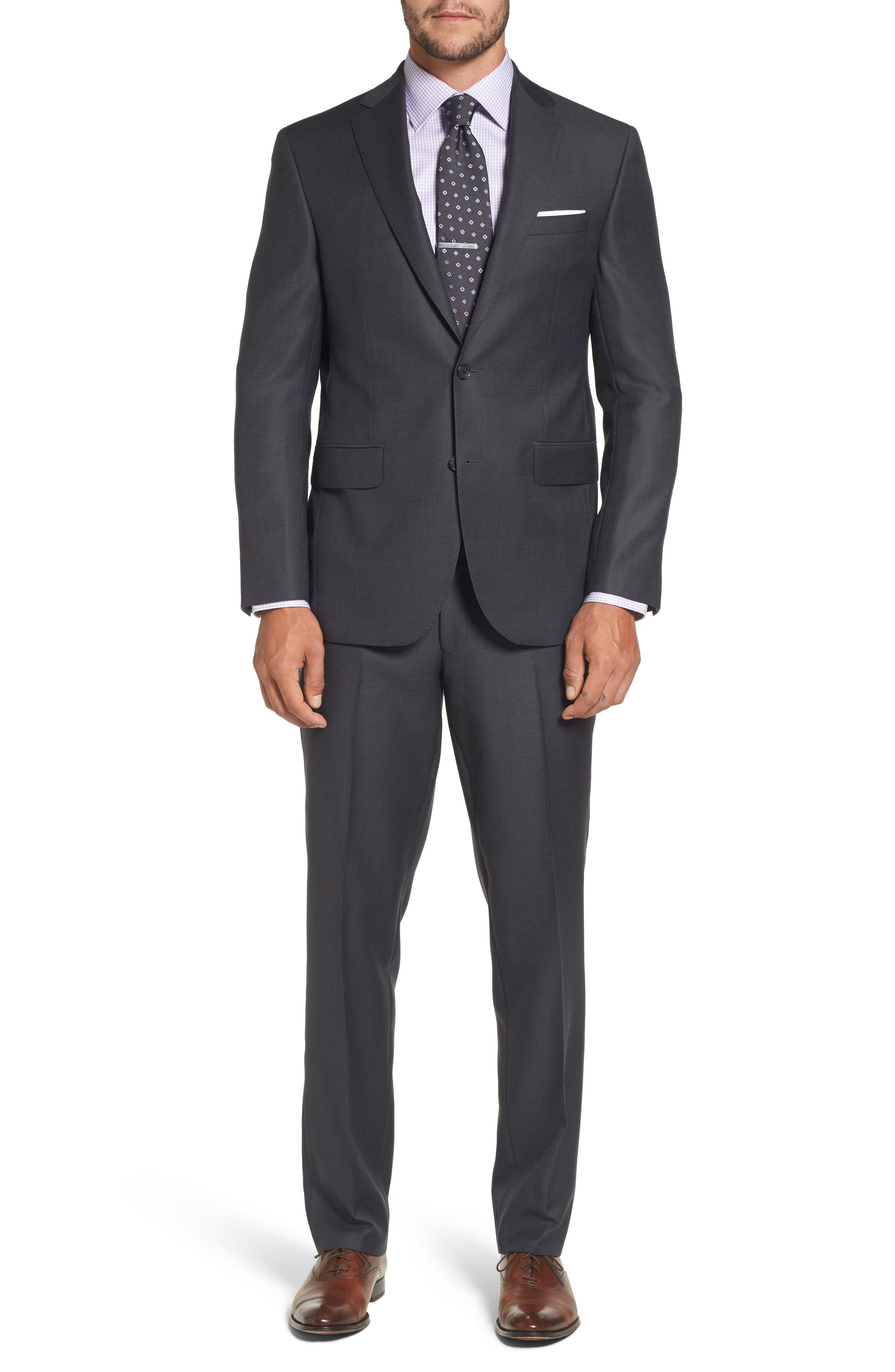 Ryan Classic Fit Solid Wool Suit,                         Main,                         color, 010