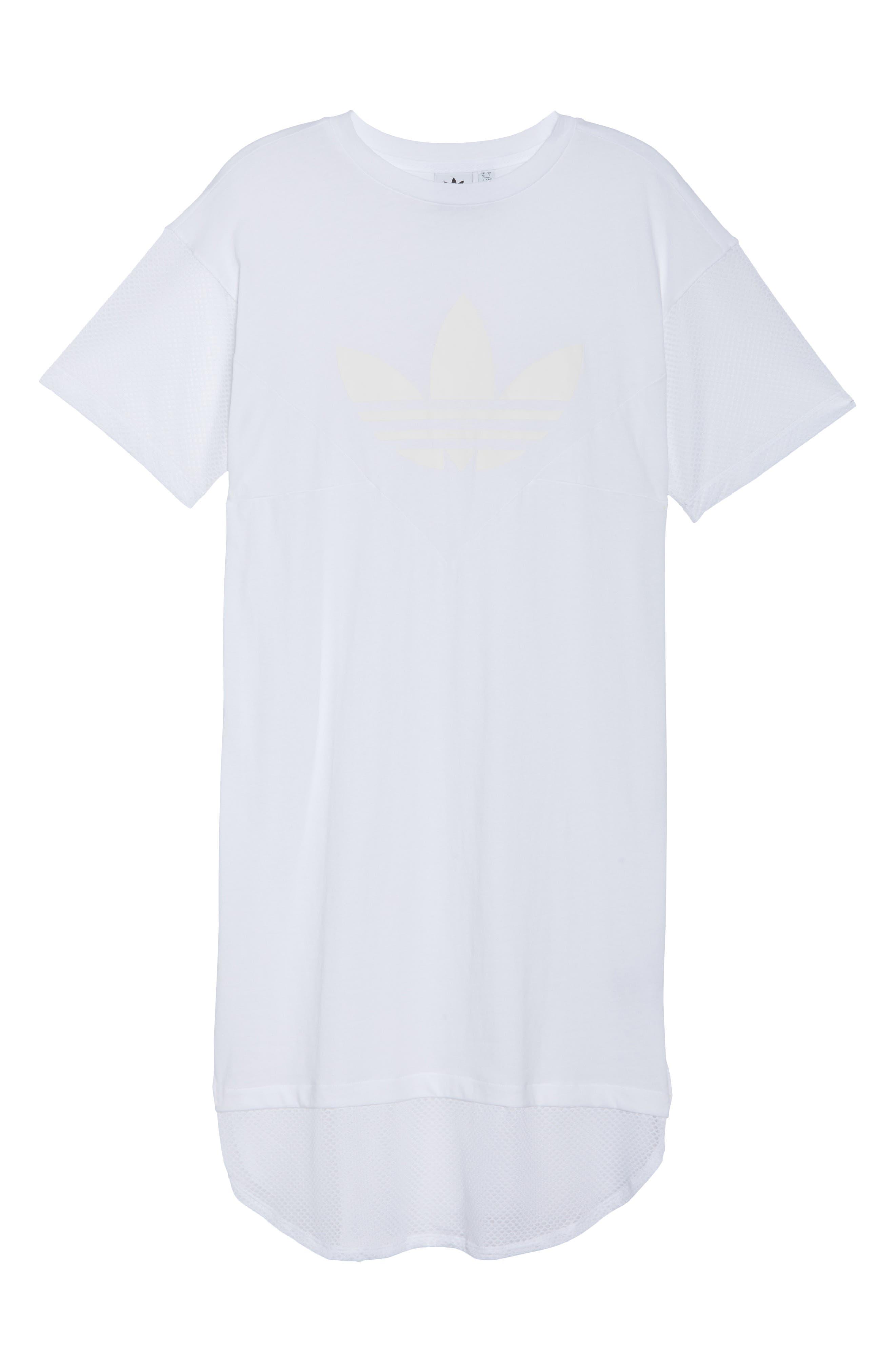 CLRDO T-Shirt Dress,                             Alternate thumbnail 7, color,                             100